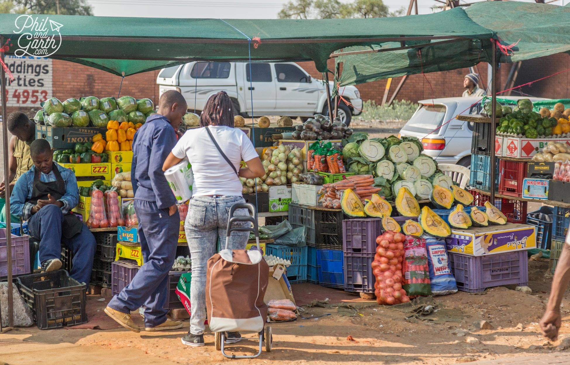 A fruit and veg stall in Soweto