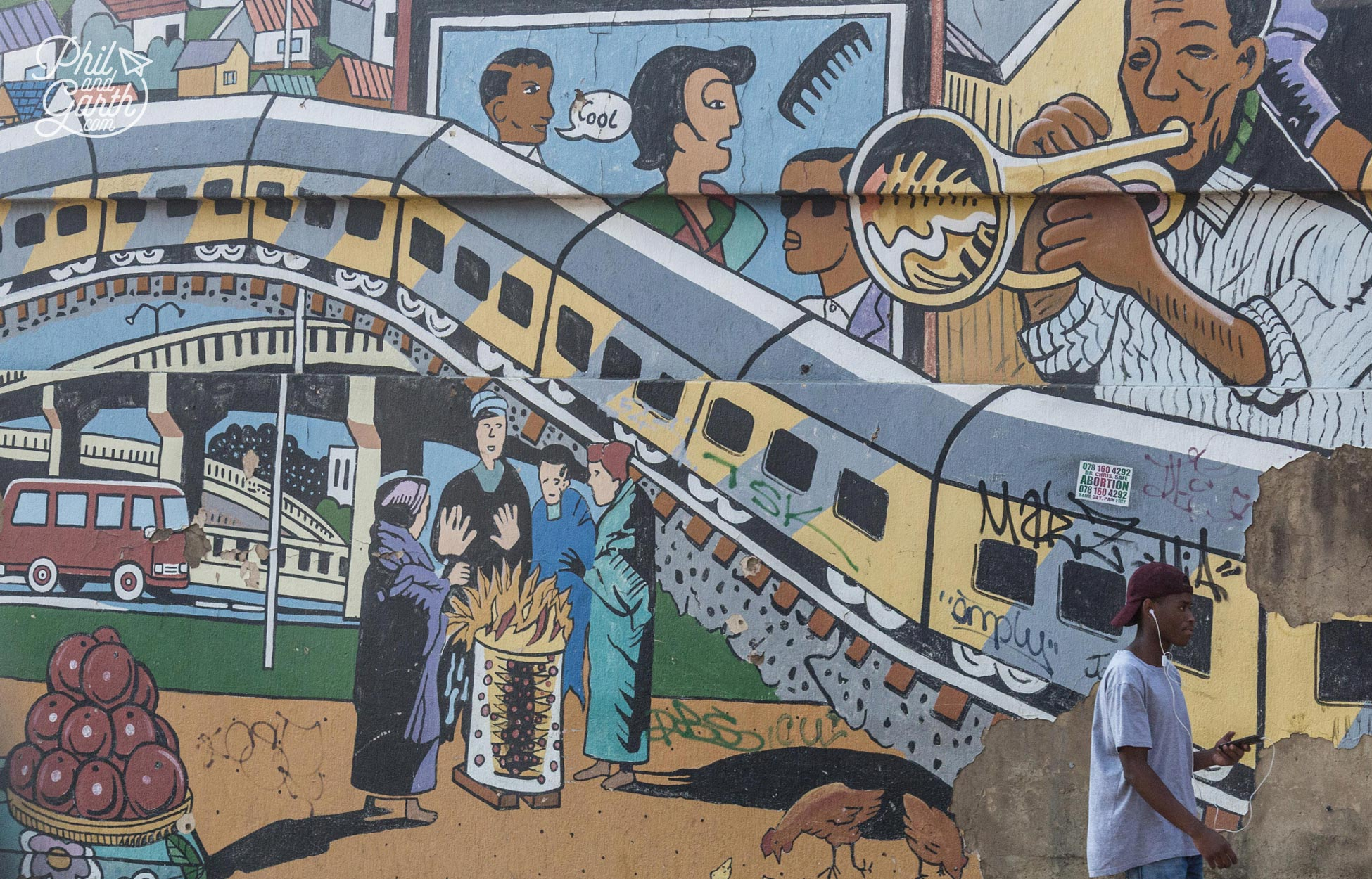 Just one of the many murals in Soweto