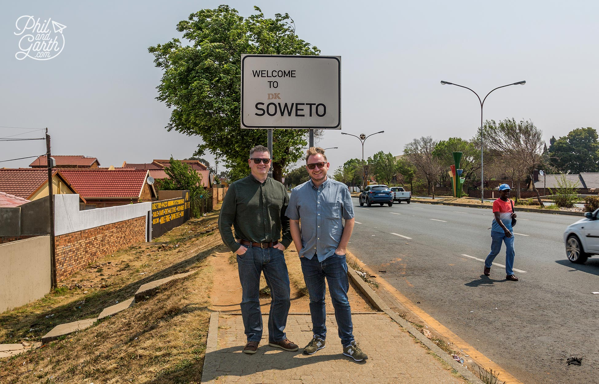 Phil and Garth in Soweto, Johannesburg