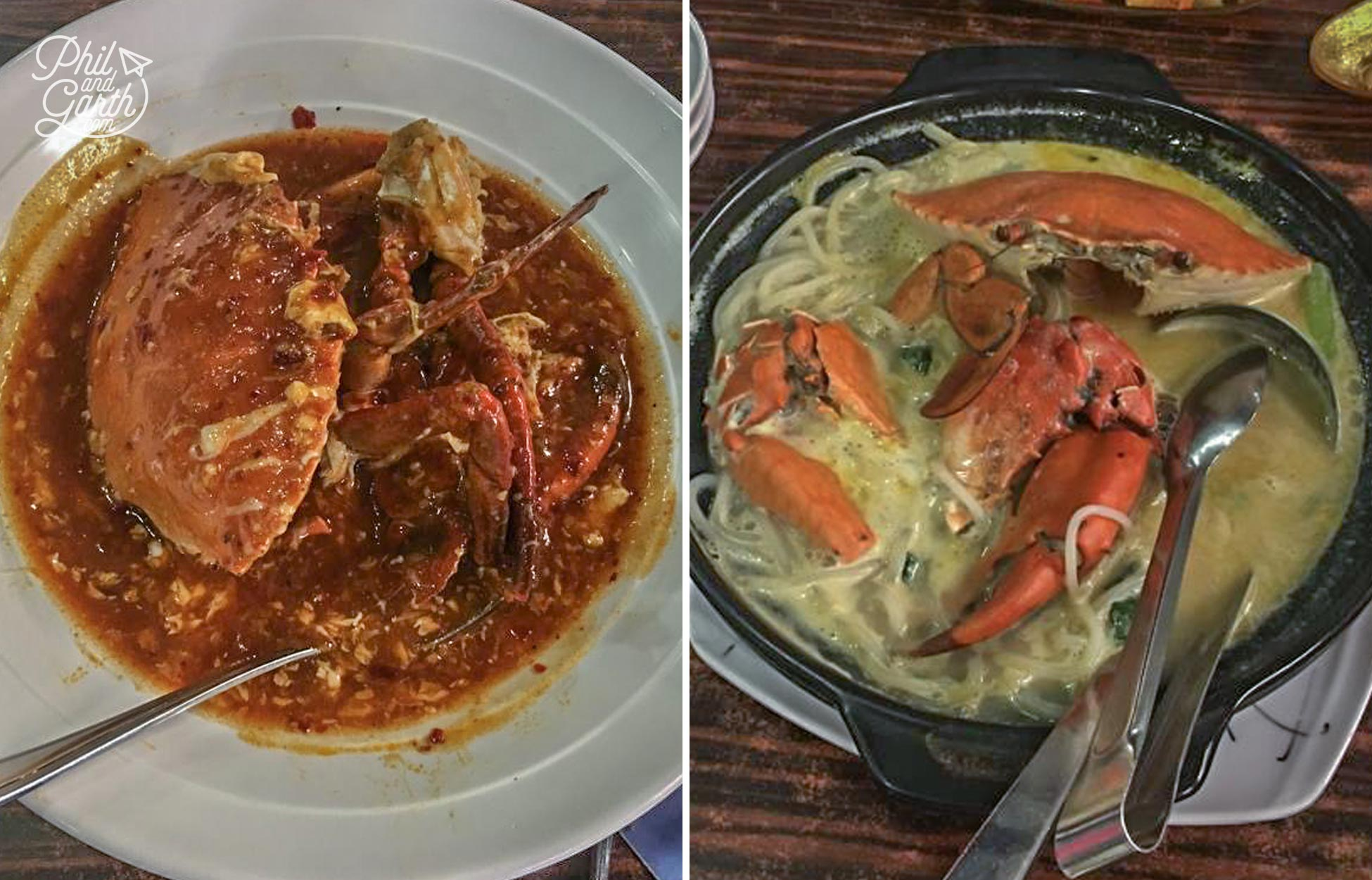Chilli Crab and Bee Hoon Crab
