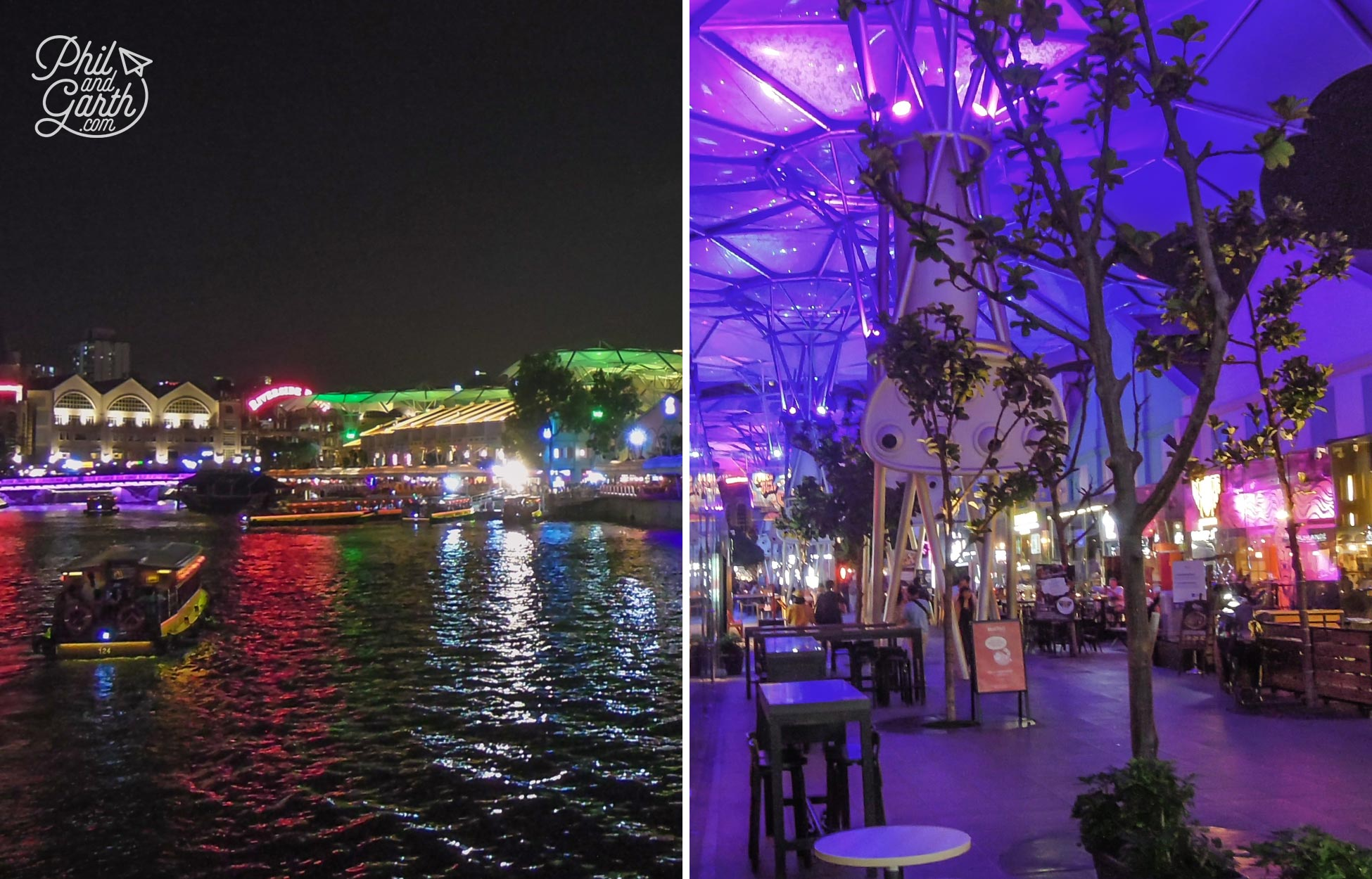 Clarke Quay for restaurants and nightlife