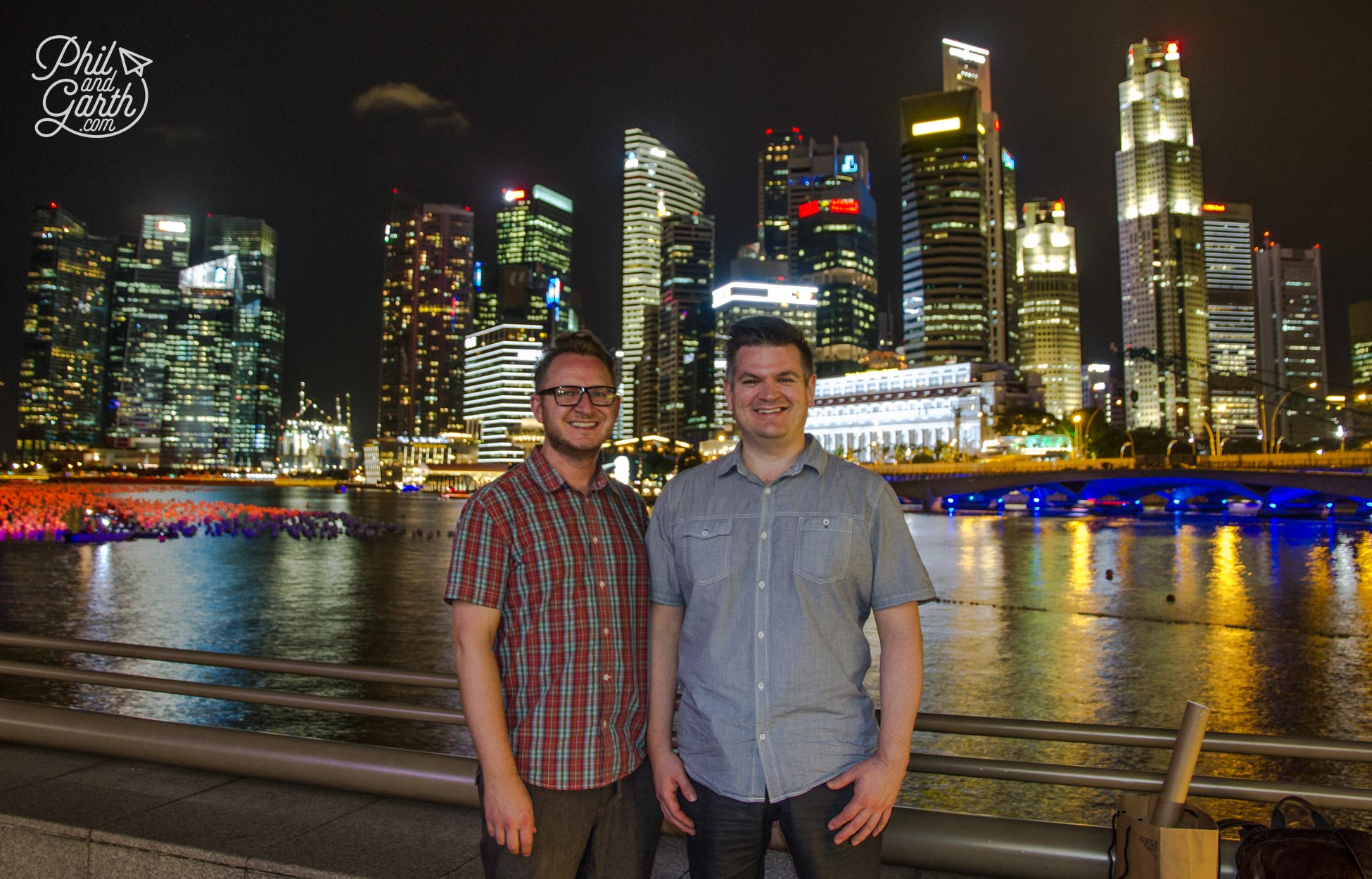 Garth and Phil in Singapore