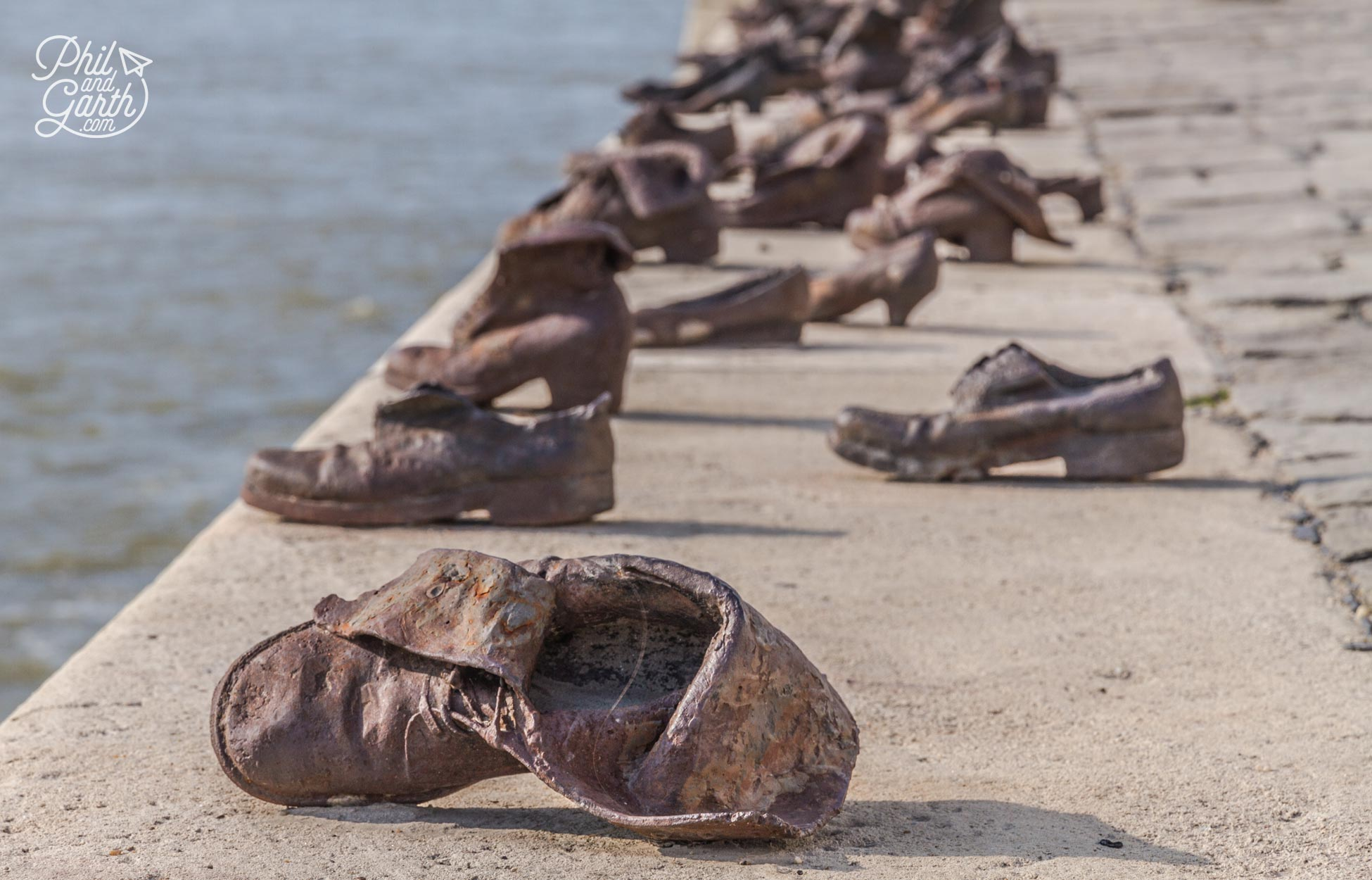 Shoes On The Danube Promenade - The haunting memorial to the Jews killed here