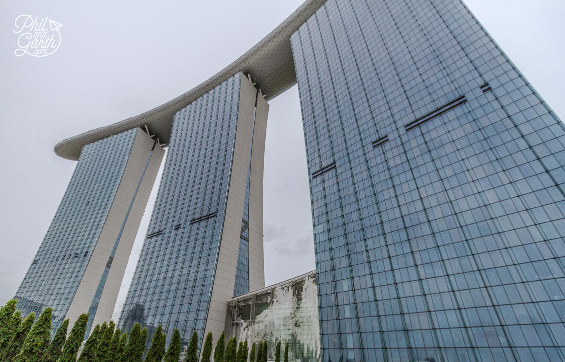 The landmark Marina Bay Sands hotel in Singapore