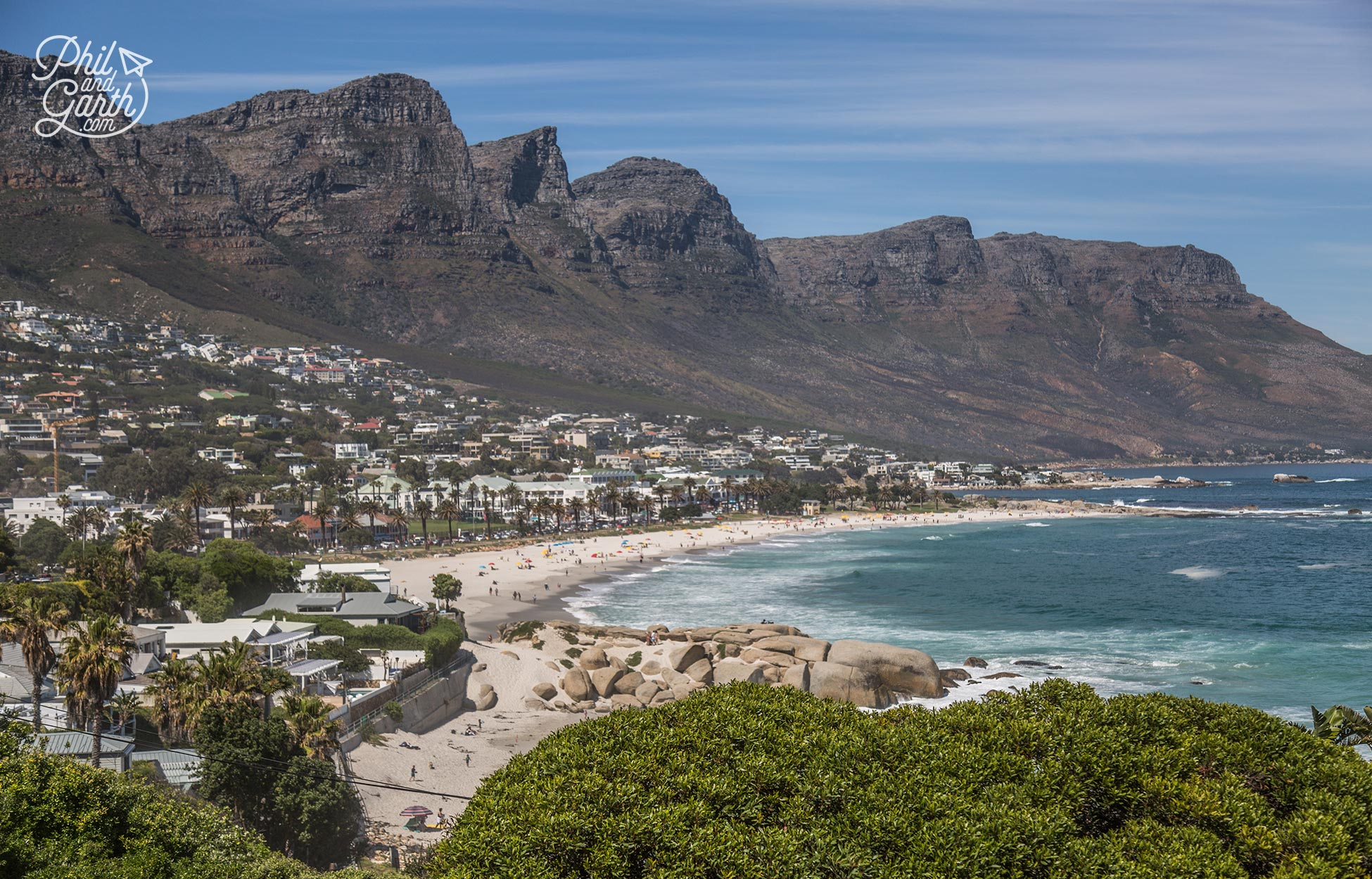 Upmarket Camps Bay is Cape Town's favourite beach