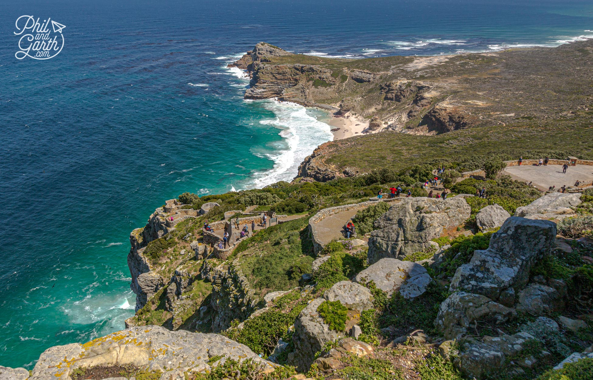 Epic views over Cape Point from the lighthouse