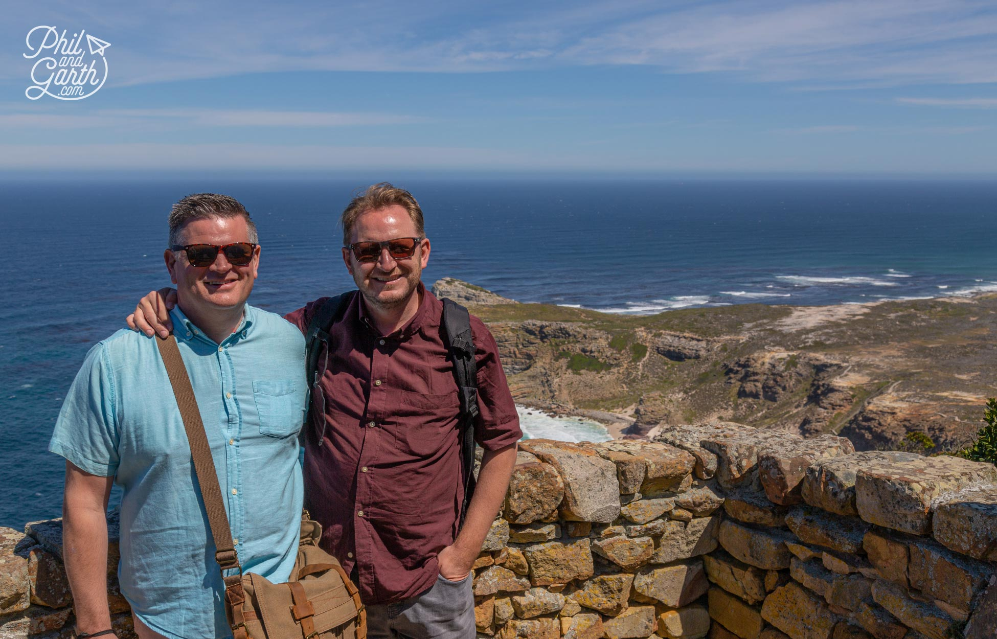 Phil and Garth at Cape Point, South Africa