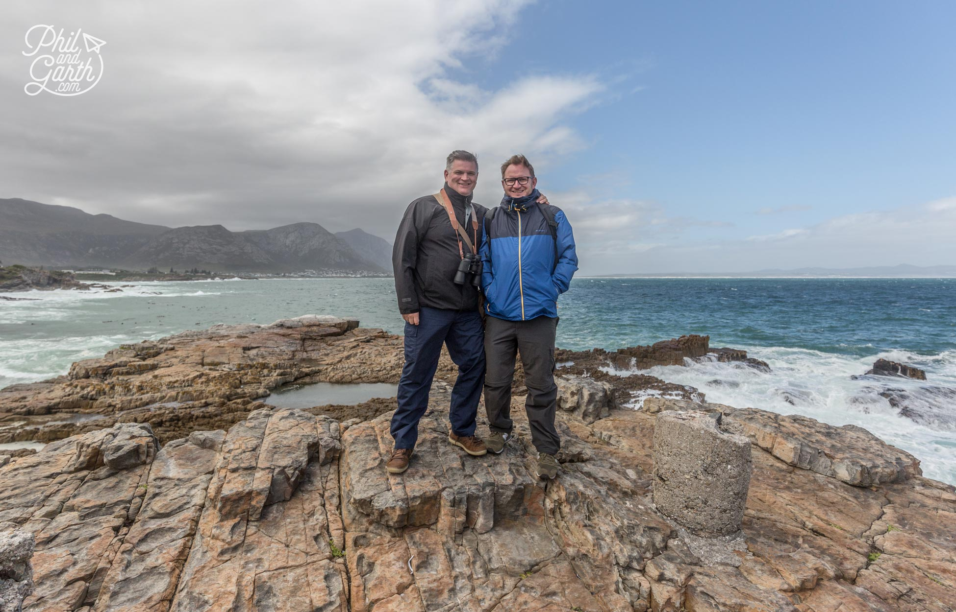 Phil and Garth at Hermanus, South Africa