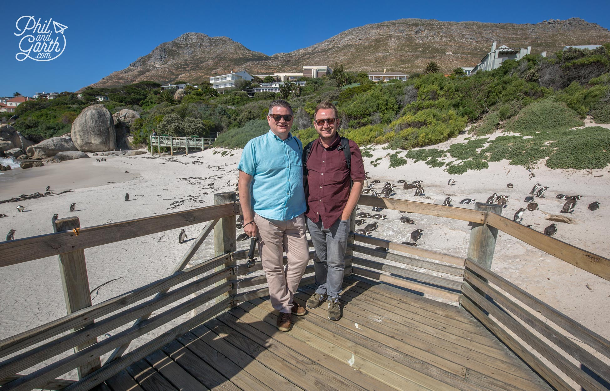 Phil and Garth at Boulders Beach South Africa Highlights Tour