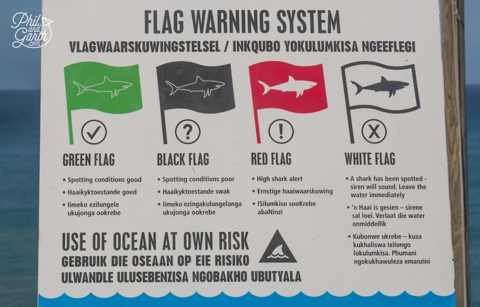 South Africa's Shark flag warning system