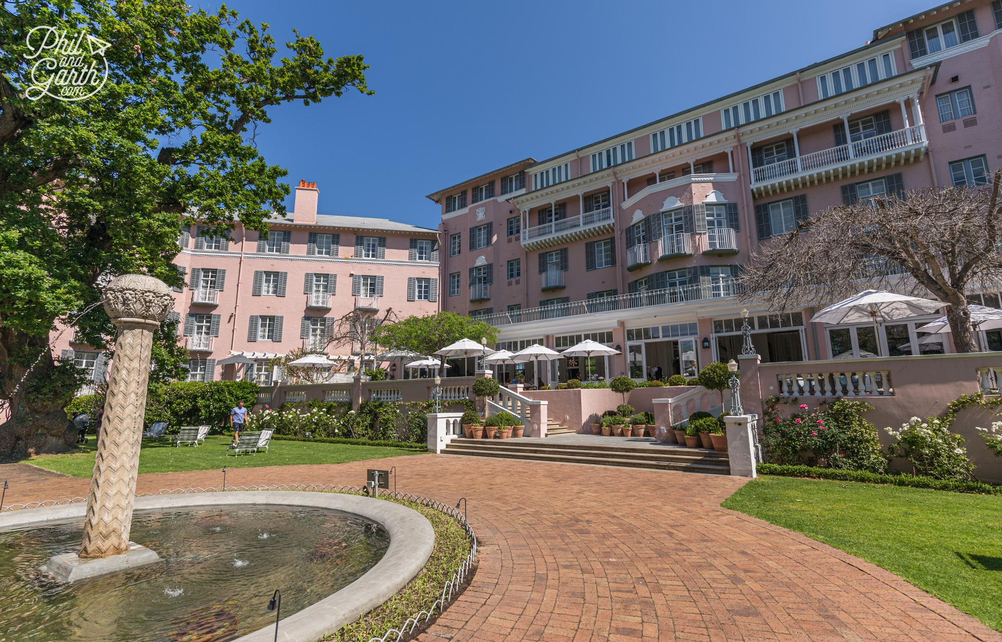 The glamourous Mount Nelson Hotel, Cape Town