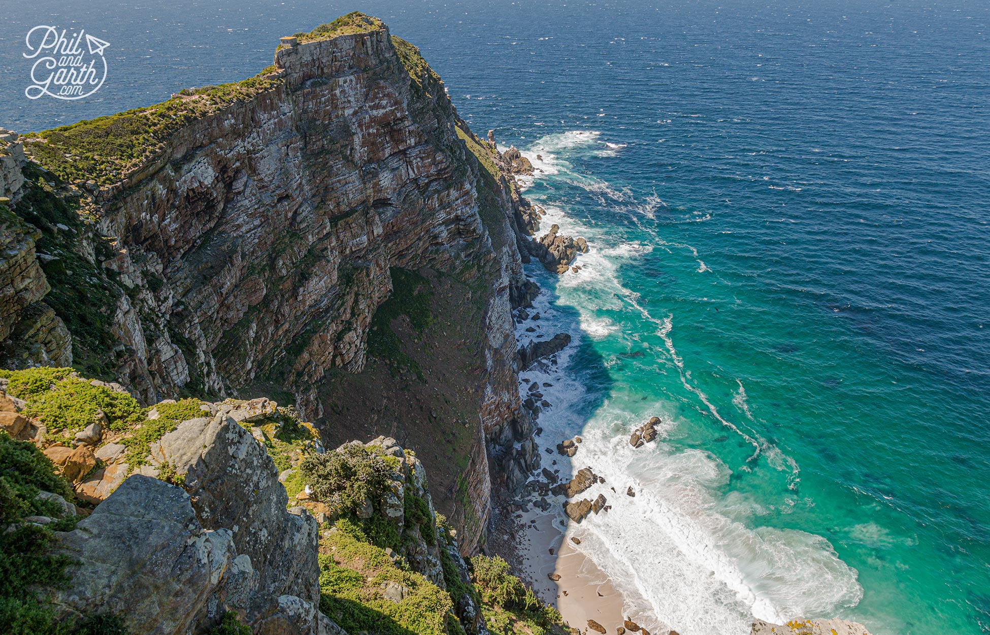 Looking down on the rugged beauty of Cape Point