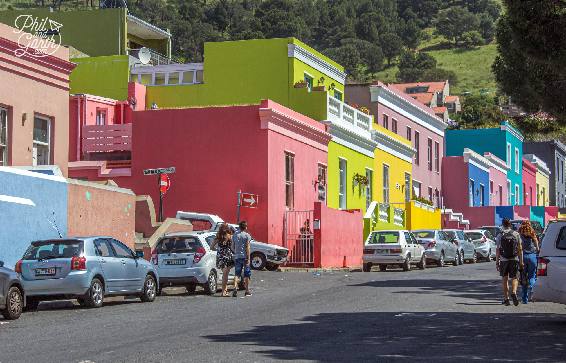 The colourful buildings are used as backdrops to many tv commercials