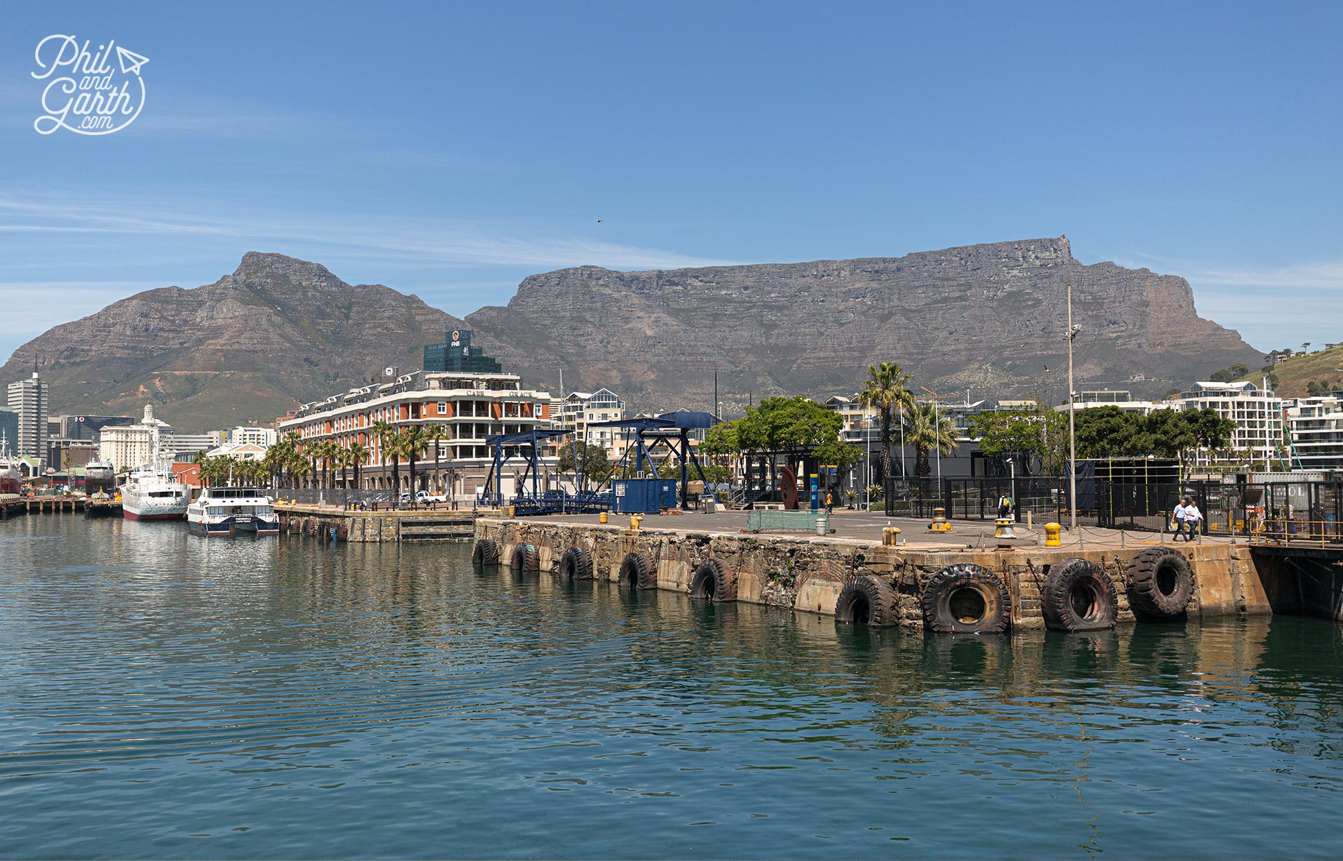 Cape Town's Table Mountain dominates the skyline