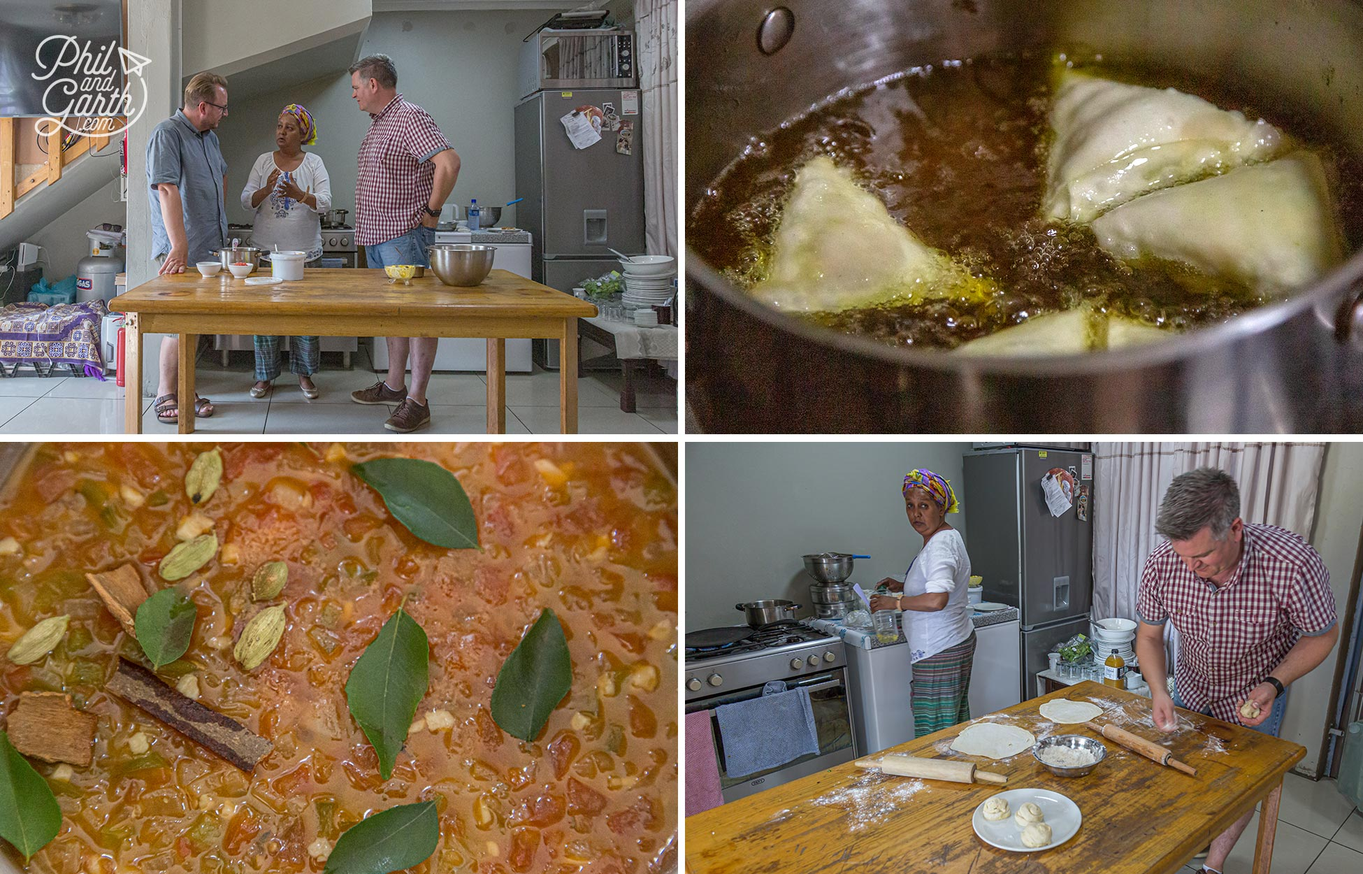 Cooking in Faldela's kitchen