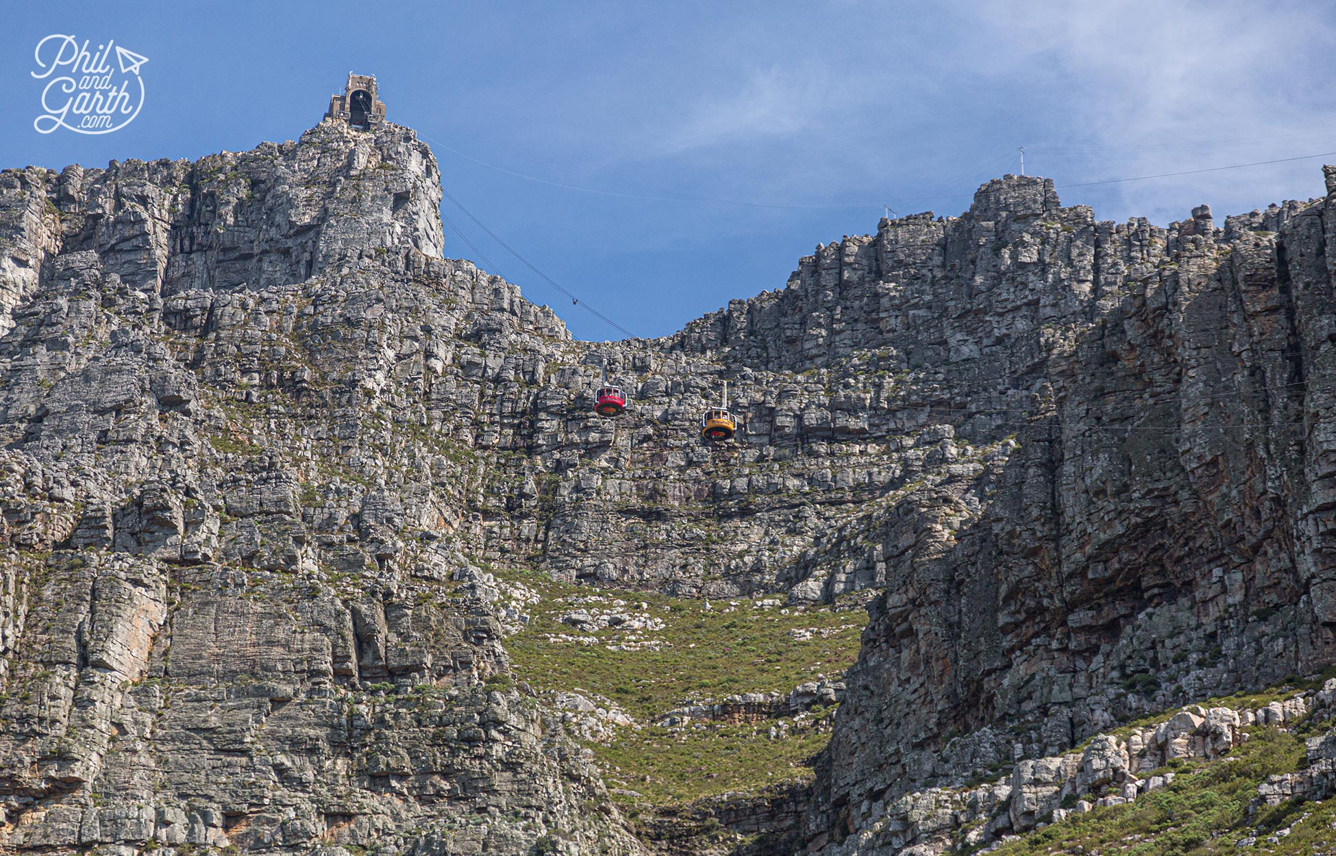 The revolving cable cars that take you to the top of Table Mountain