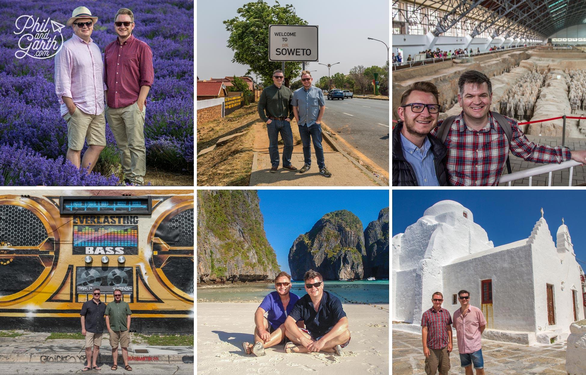Phil and Garth Around the world