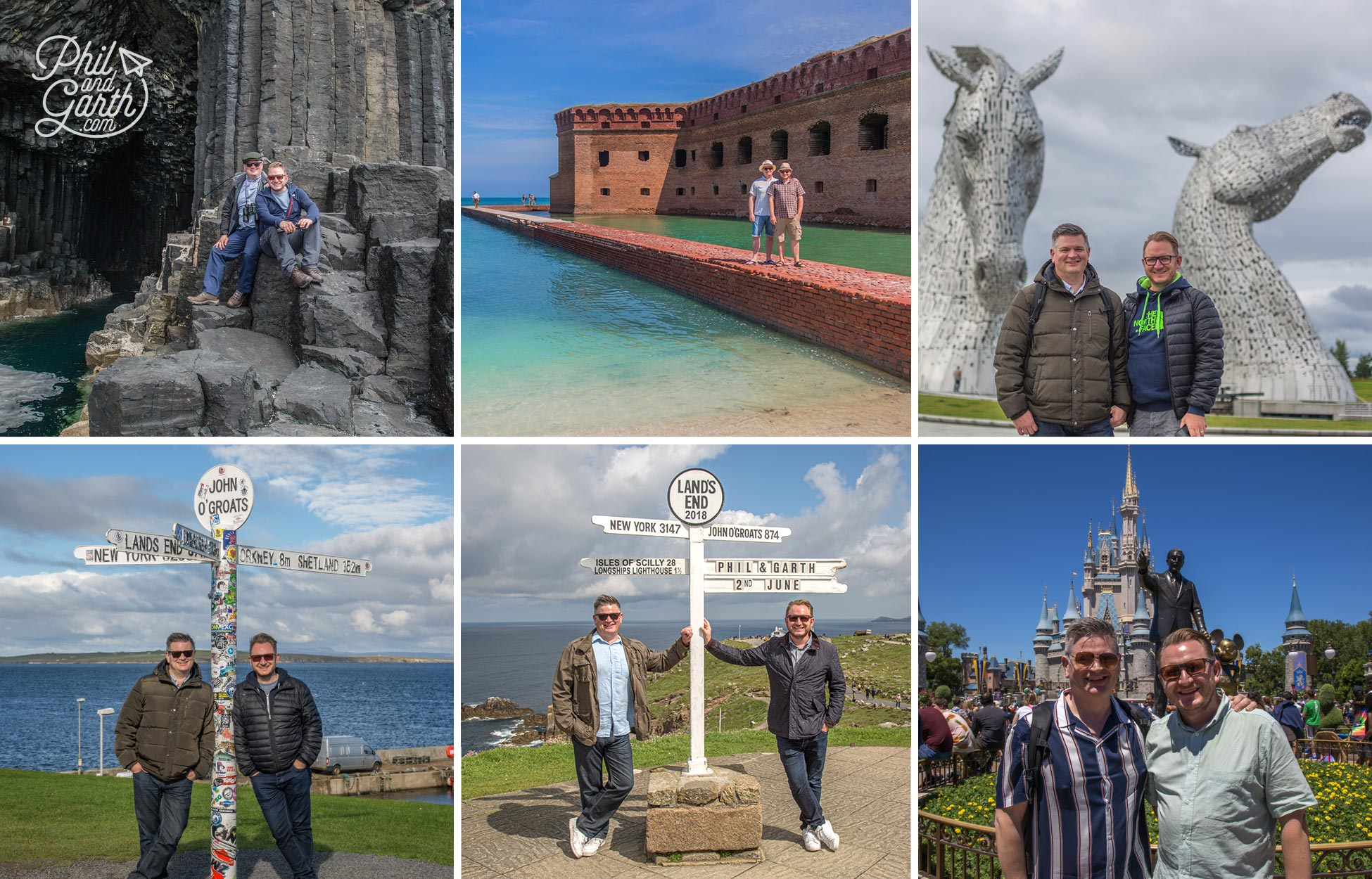 Phil and Garth Lands End and John O Groats