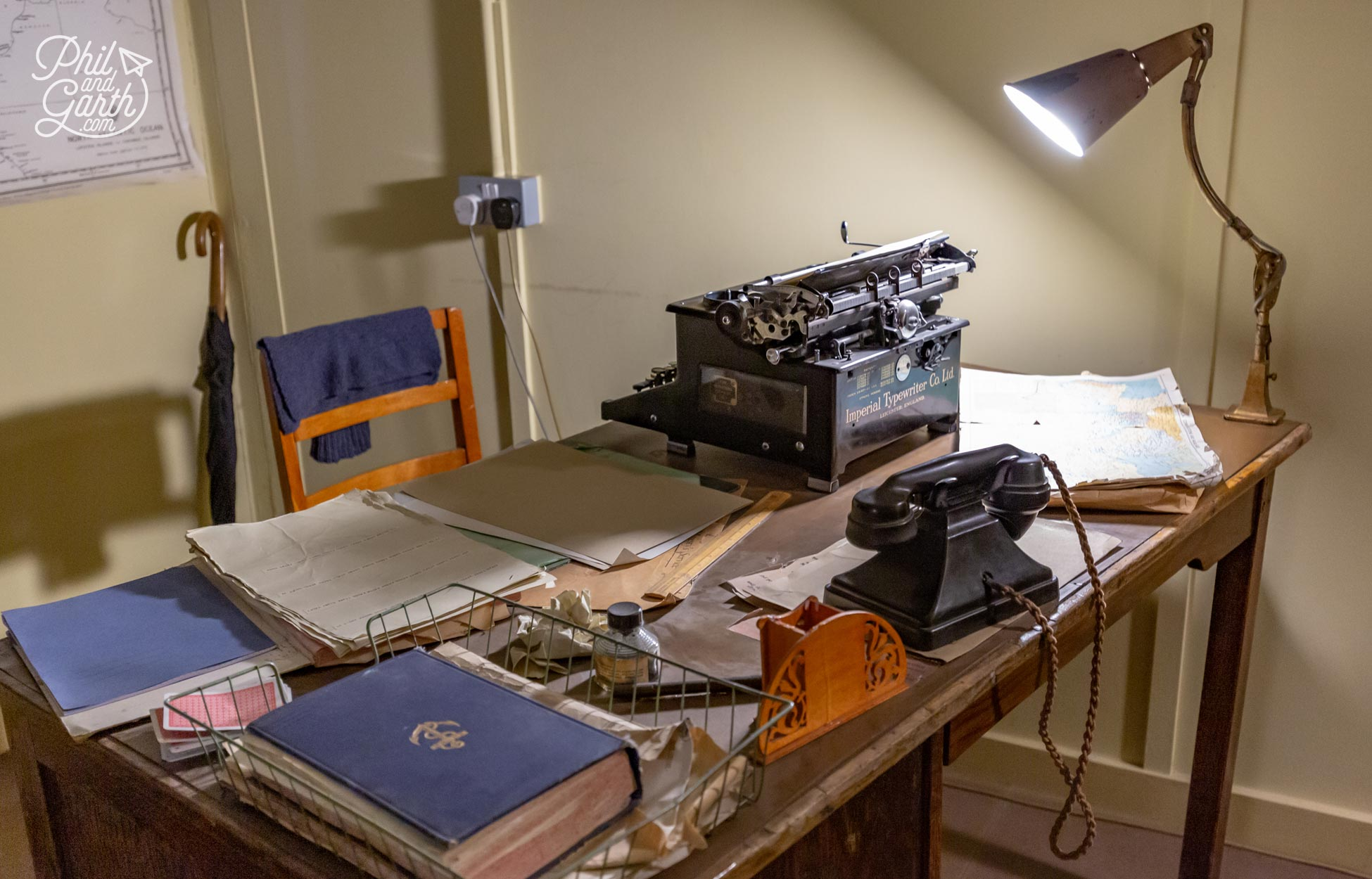 Alan Turing's desk in his office