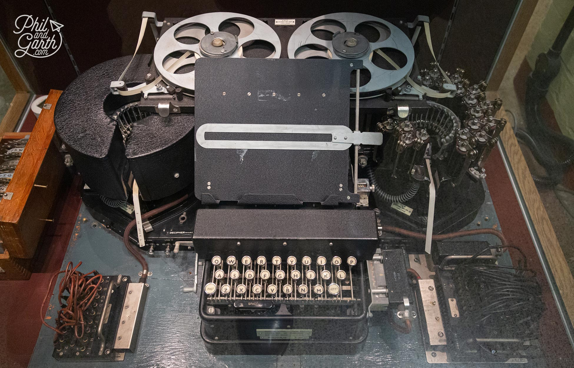 An original Typex machine used to decipher messages
