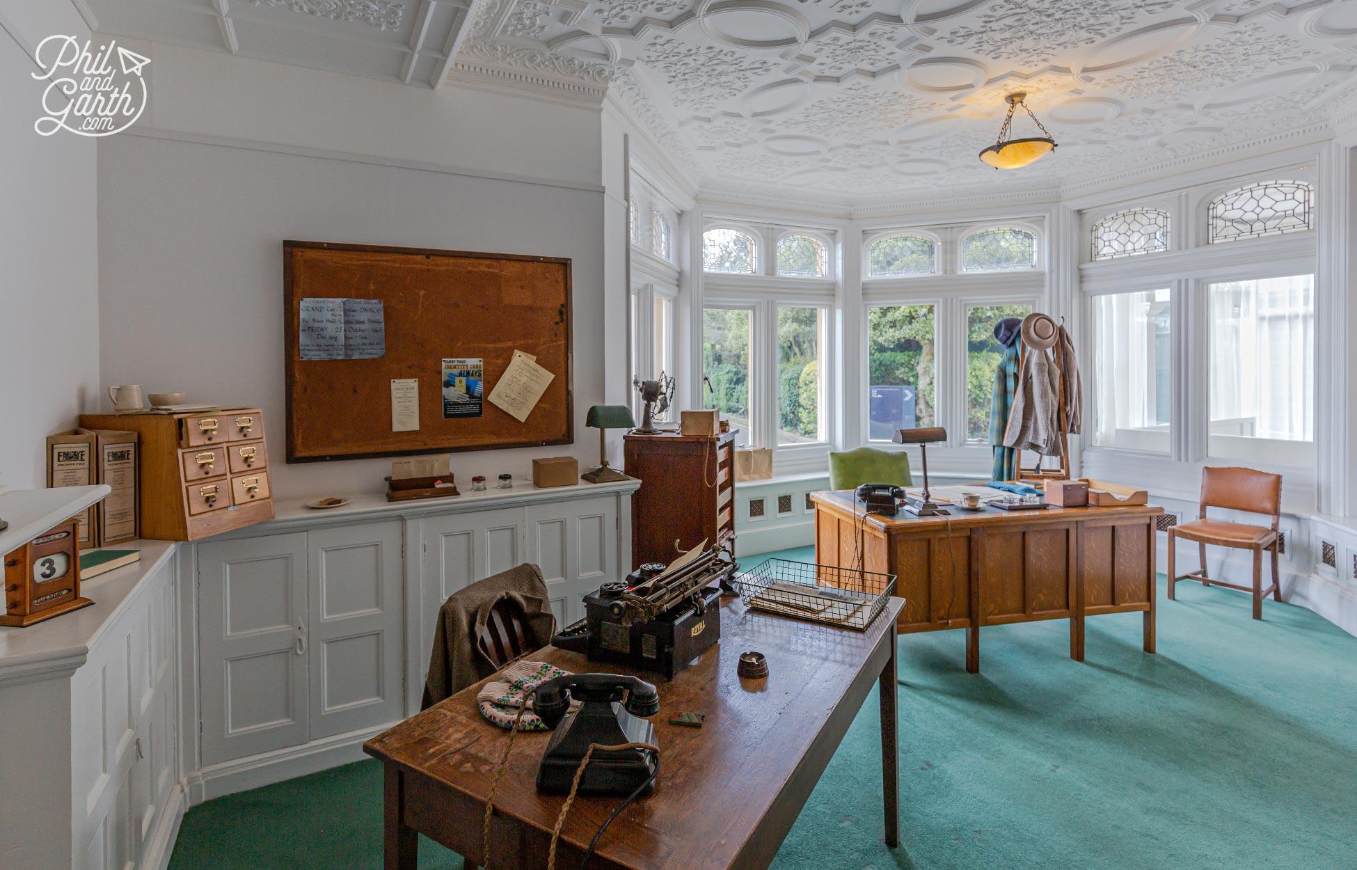 Commander Denniston's Office inside the mansion