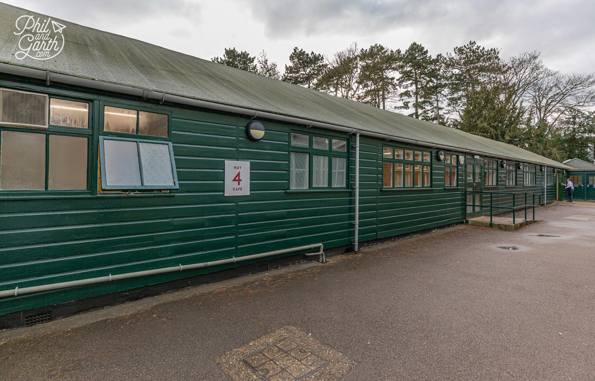 Hut 4 is now the cafe