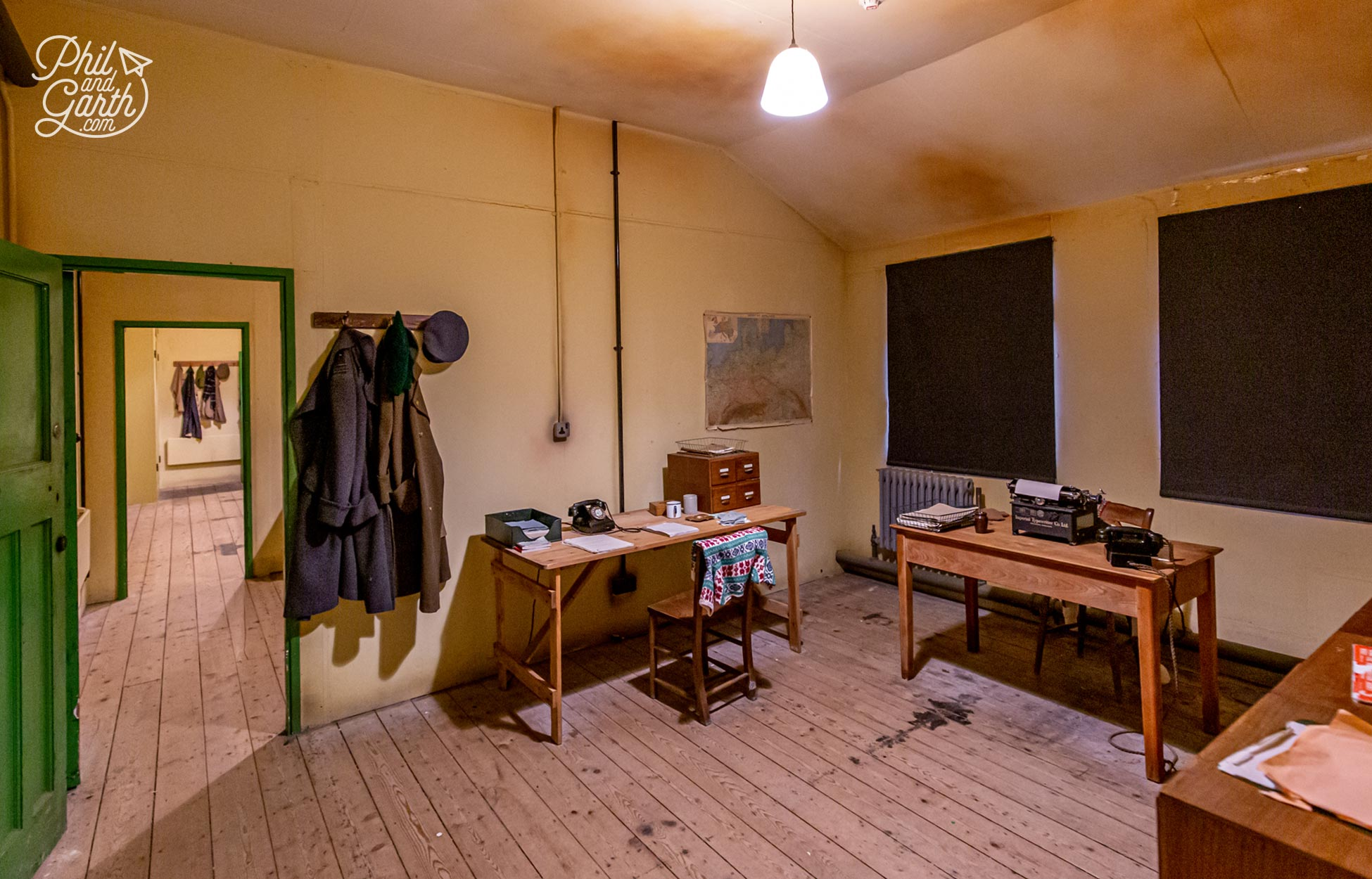 One of the rooms inside Hut 3