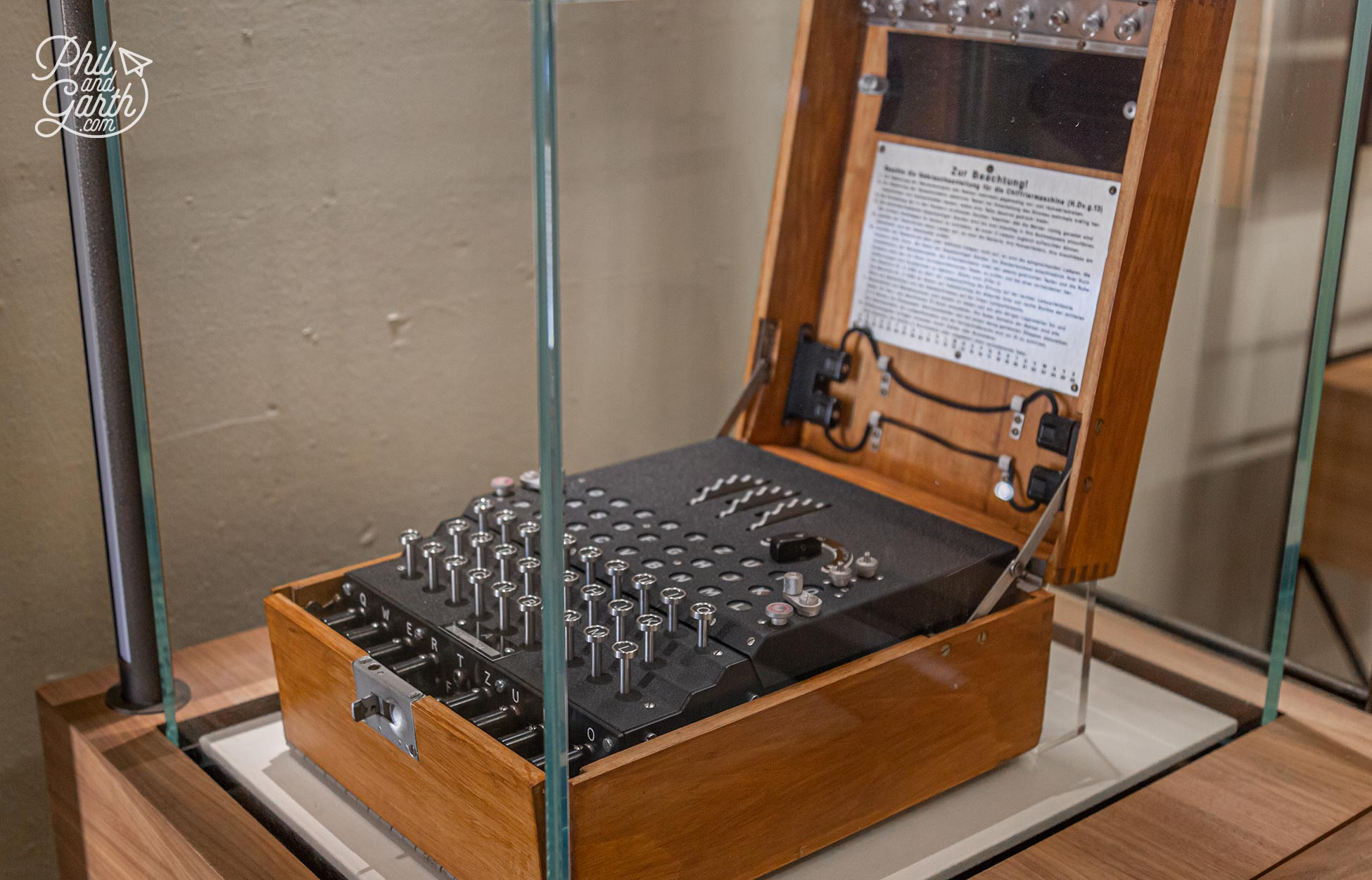 Bletchley houses the world's largest collection of Enigma machines