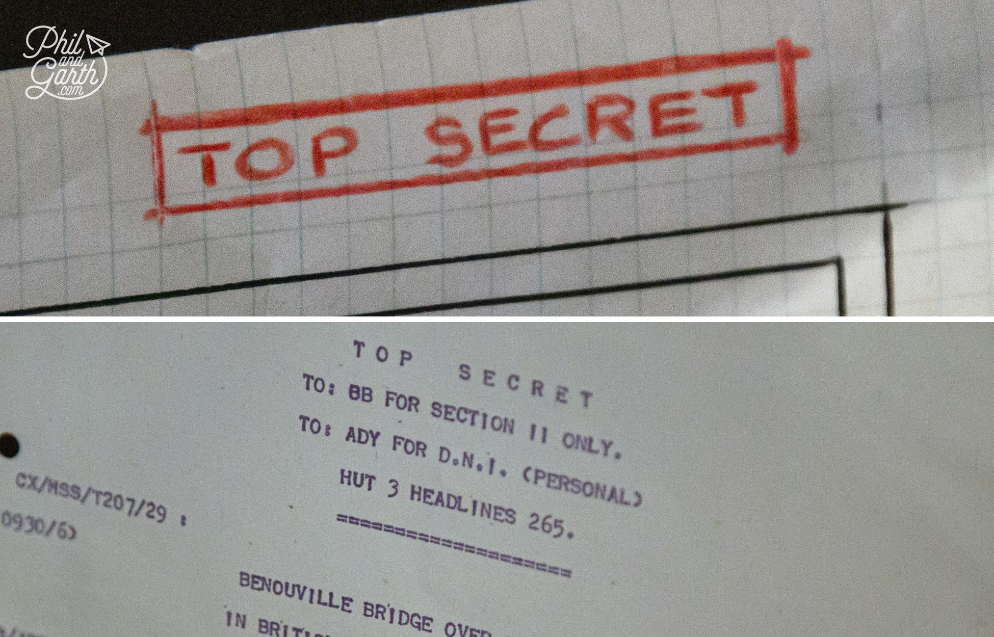Top secret intelligence