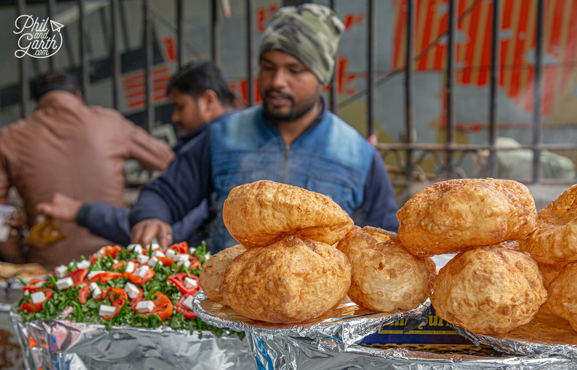 how to avoid Delhi belly - Puffed puri balls ready to be filled