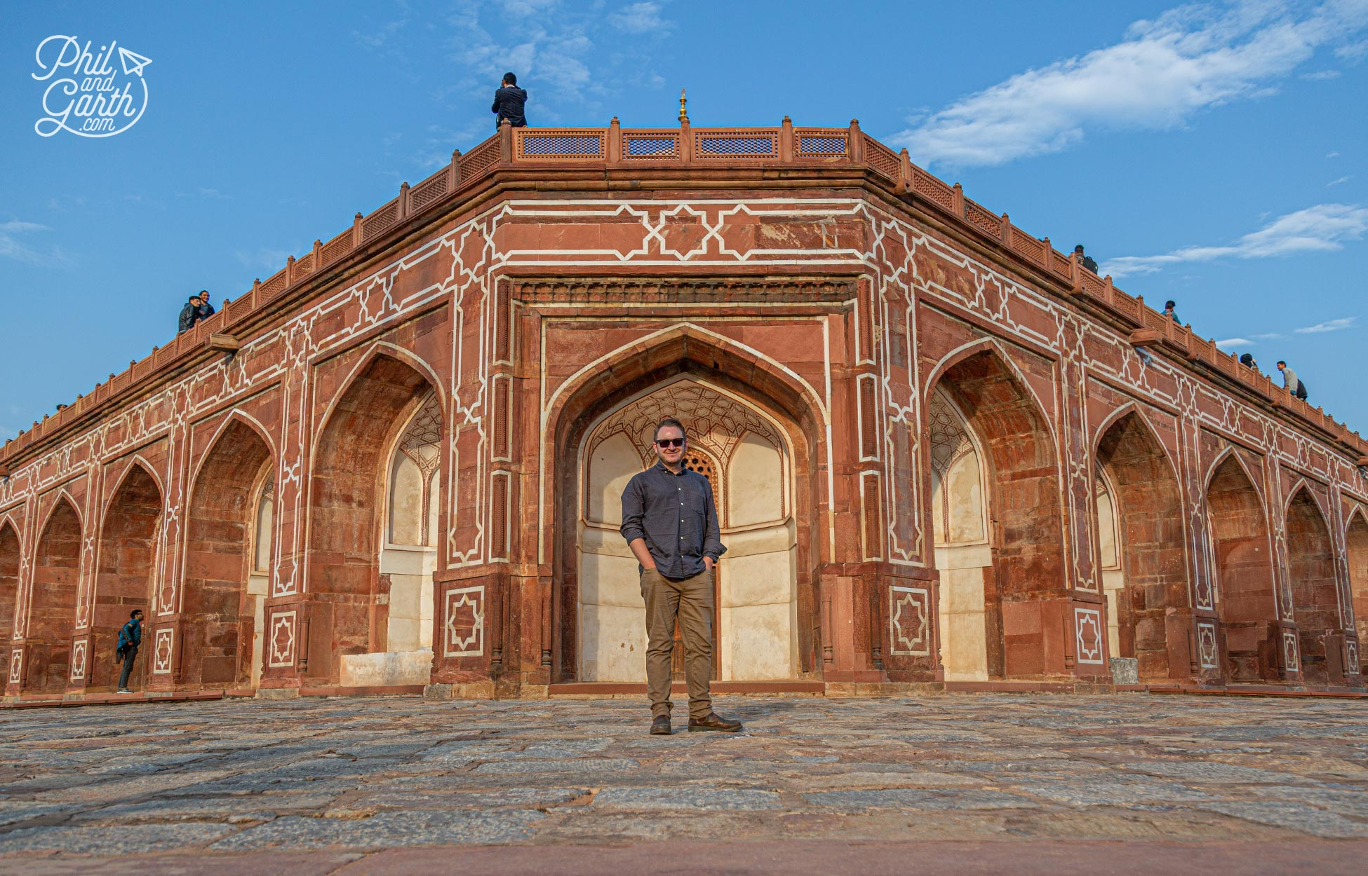 Garth on one of the terraces at Humayun's Tomb