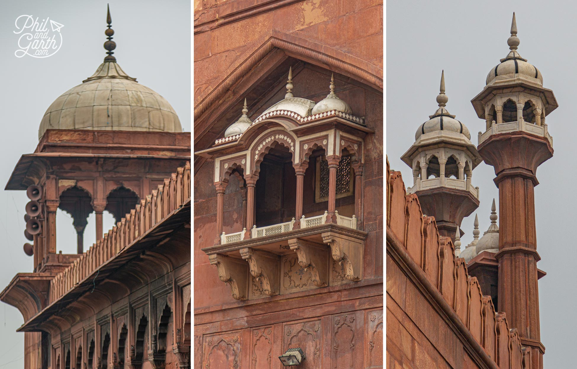 Jama Masjid is famous because it holds a pair of sandals, some hair and a footprint of the Prophet Muhammad