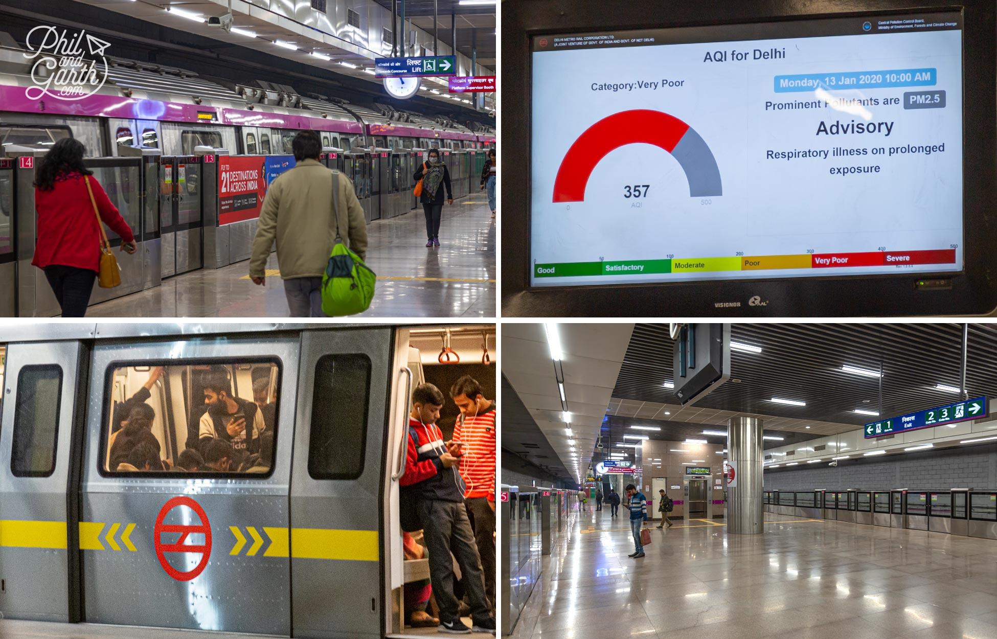 The Delhi Metro has won awards for its environmentally friendly construction