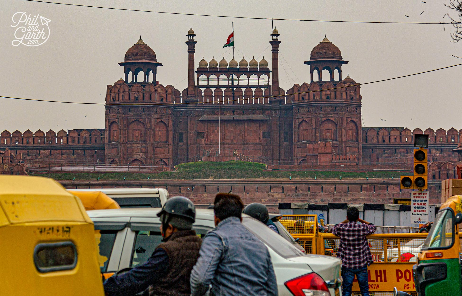 The historic Red Fort at the heart of Old Delhi