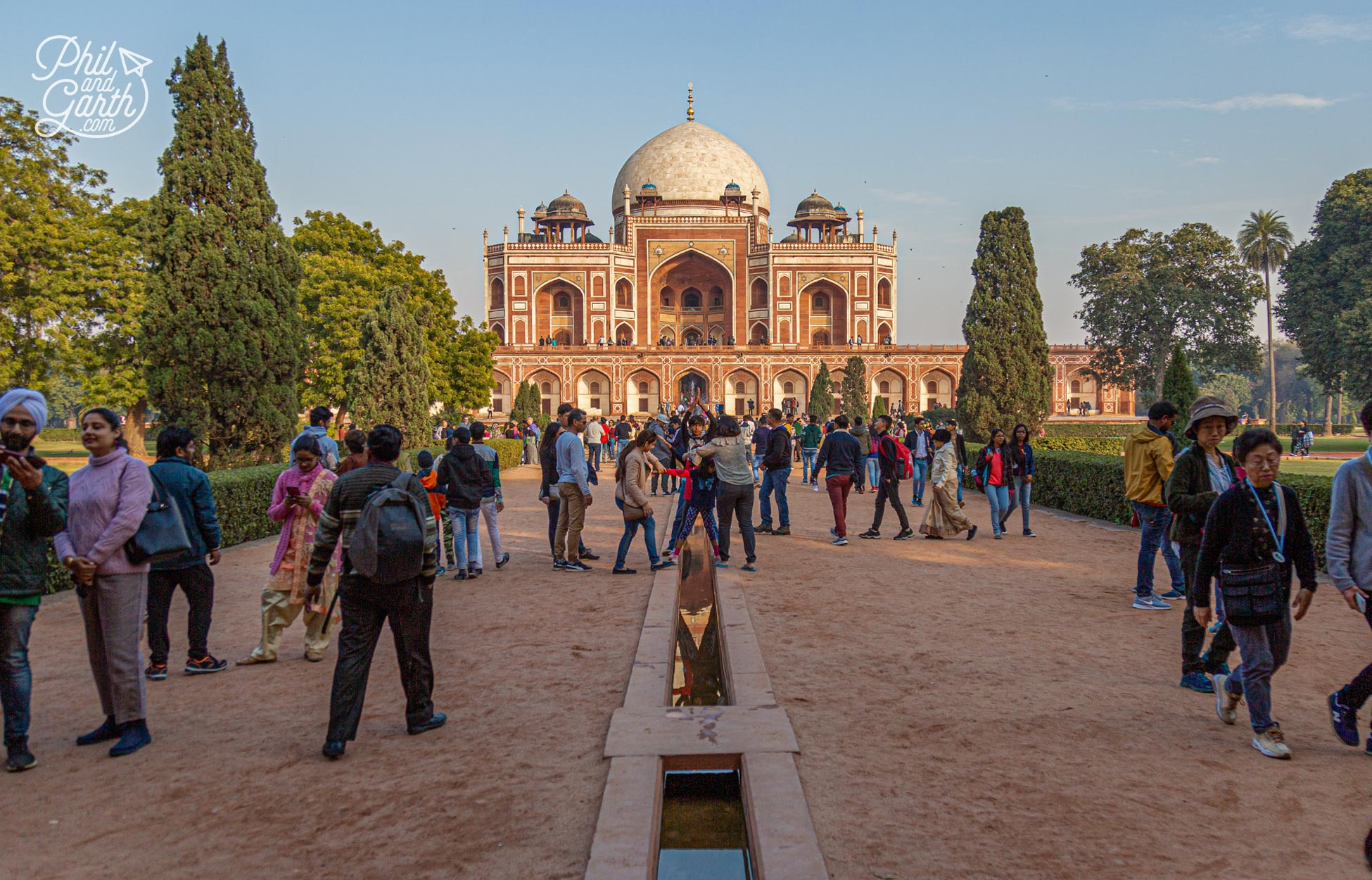 The classic view of Humayun's Tomb as seen from the entrance