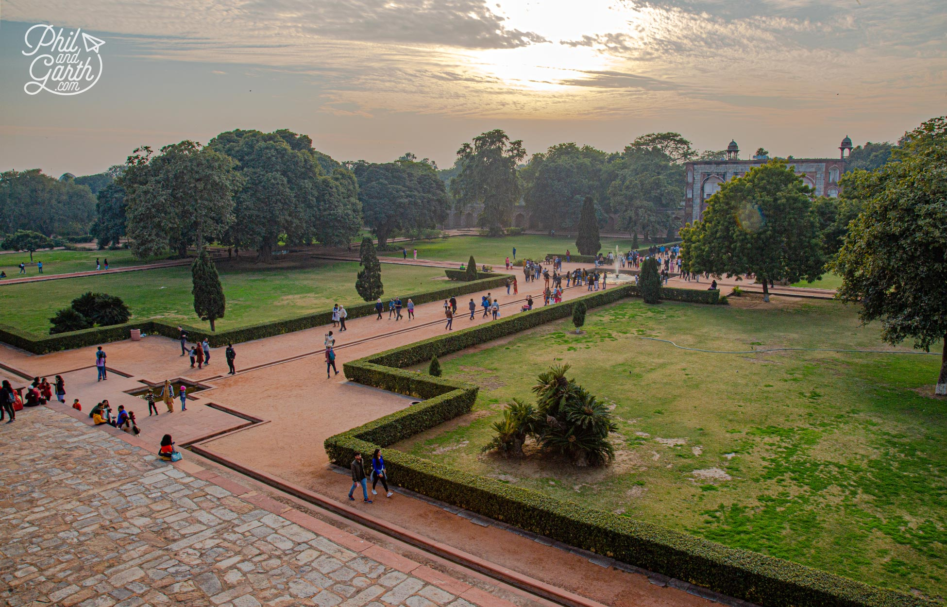 Humayun's Tomb paradise garden - typically divided into 4 squares with central water channels