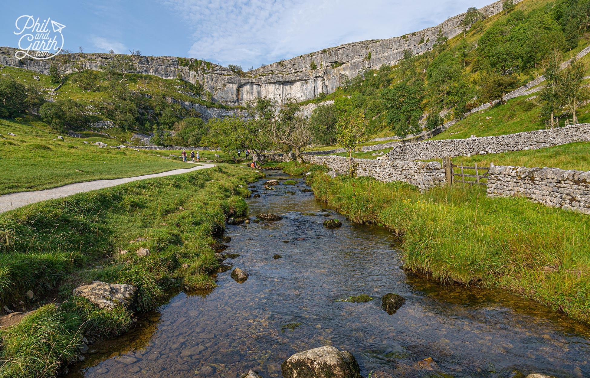 Its a gorgeous walk along the river to see the natural amphitheatre of Malham Cove