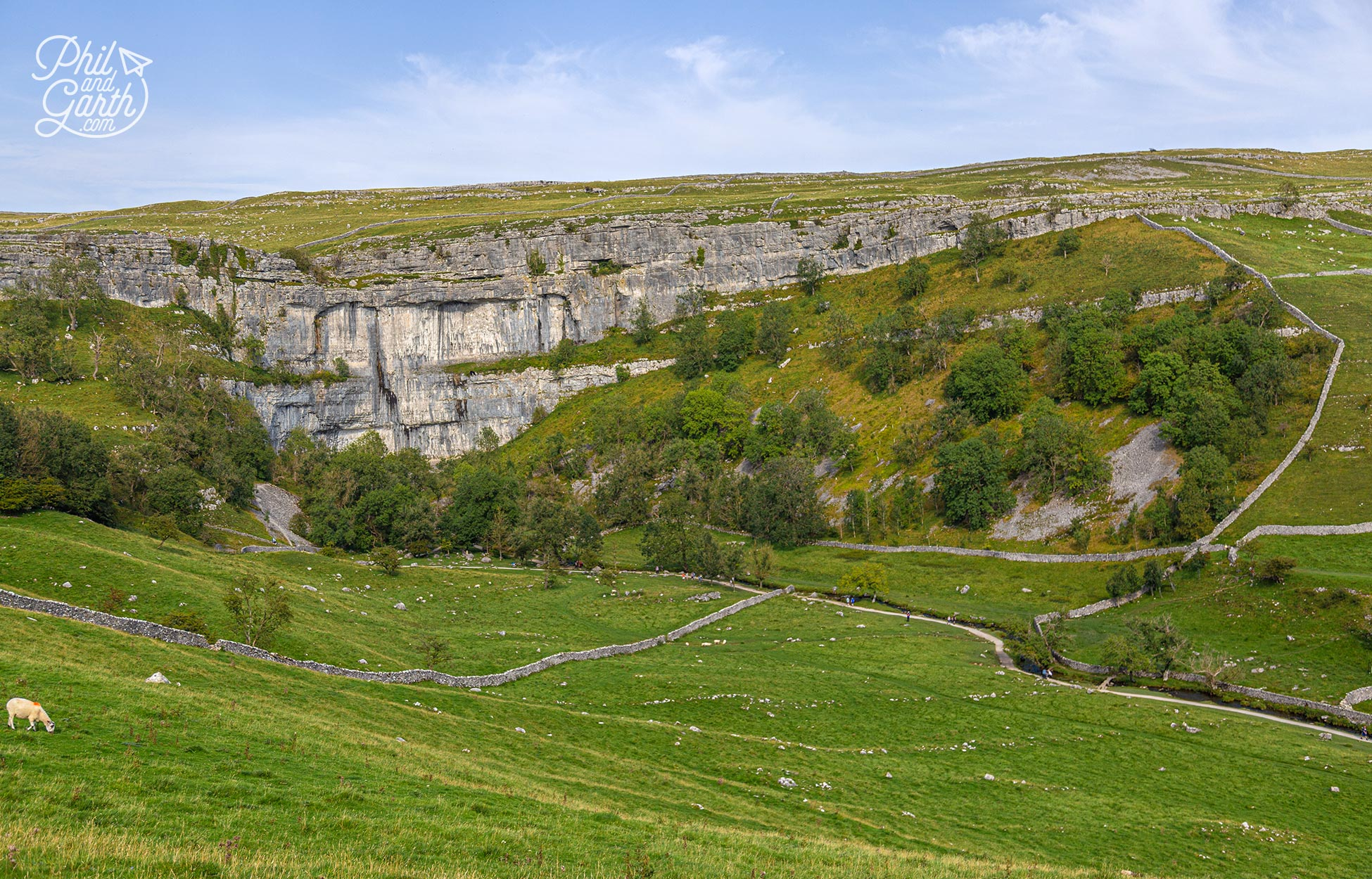 At the top of Malham Cove is a limestone pavement where they filmed a Harry Potter scene