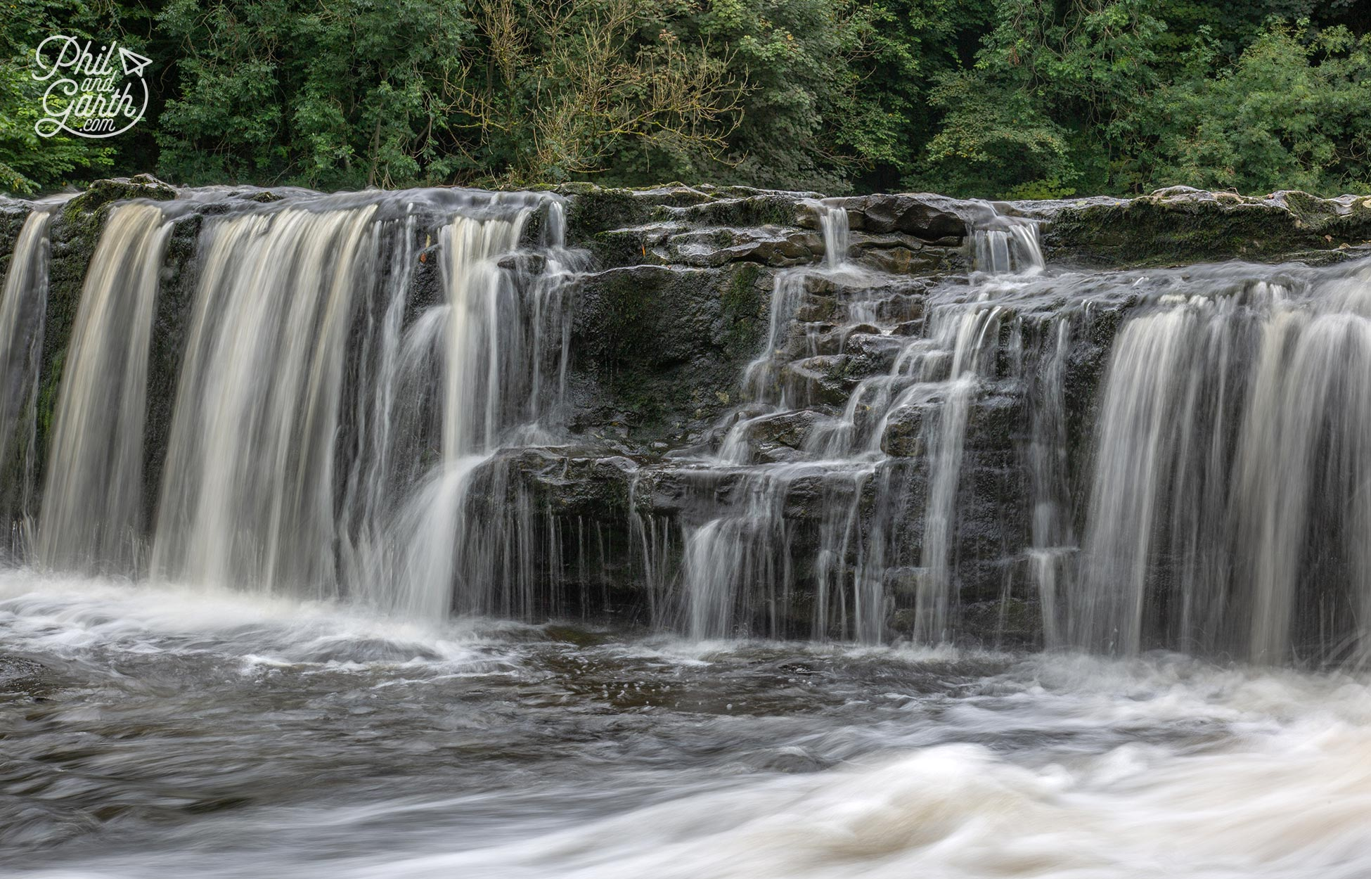 Aysgarth Falls is best seen in the Winter after heavy rain