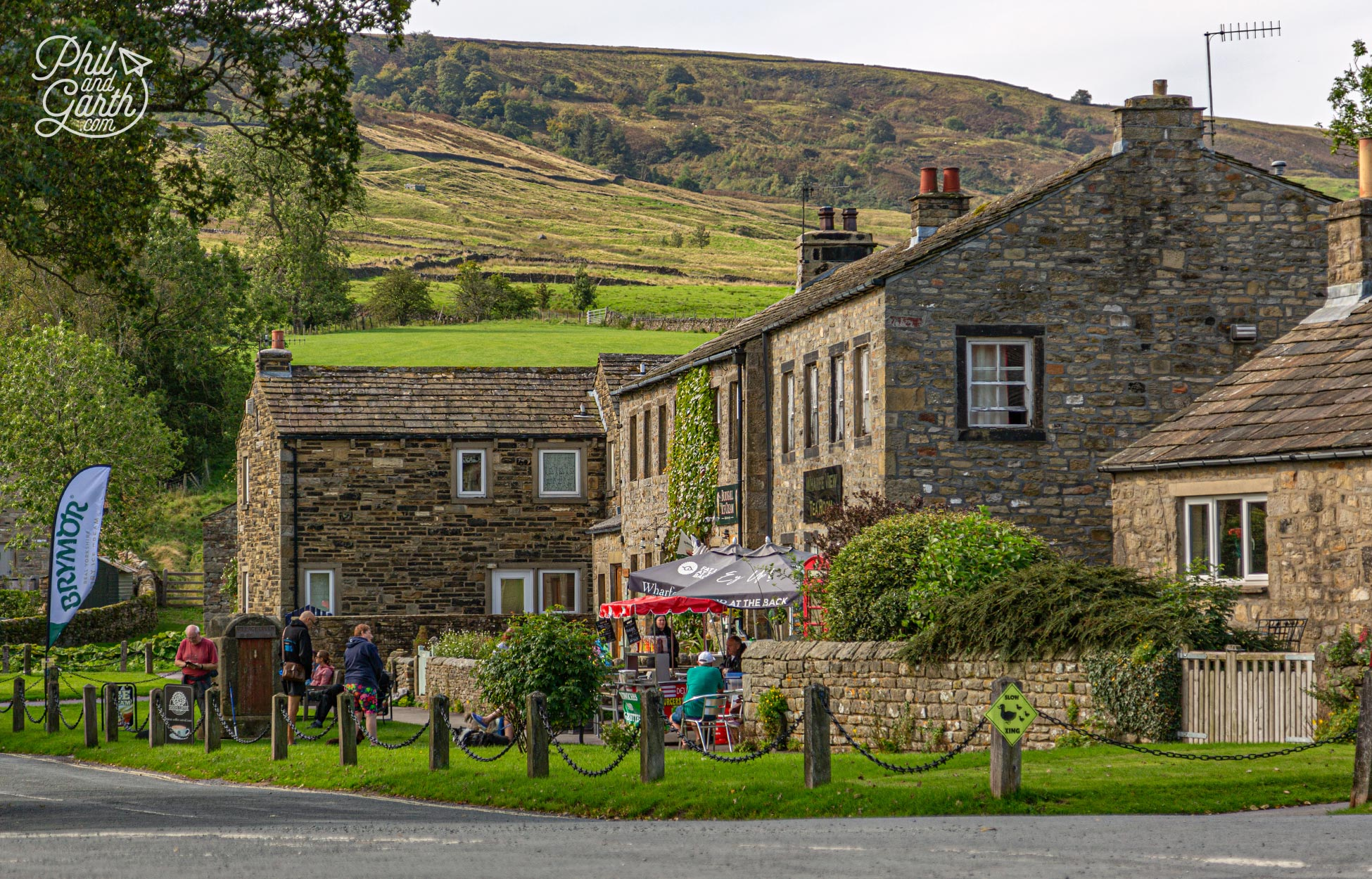 A small tea room and ice cream shop in Burnsall Yorkshire Dales