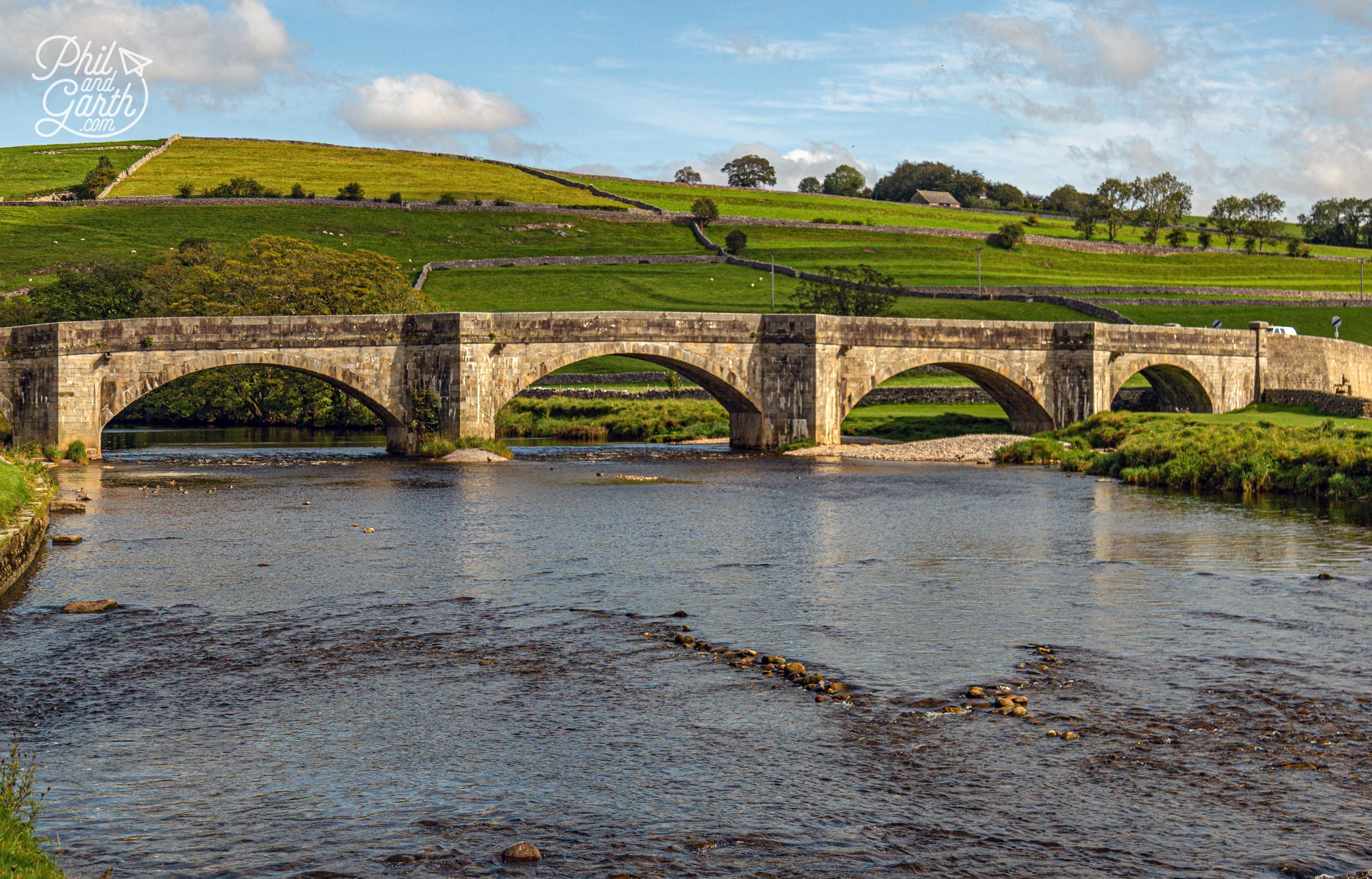 Burnsall's pretty 16th century 5 arched bridge in the Yorkshire Dales