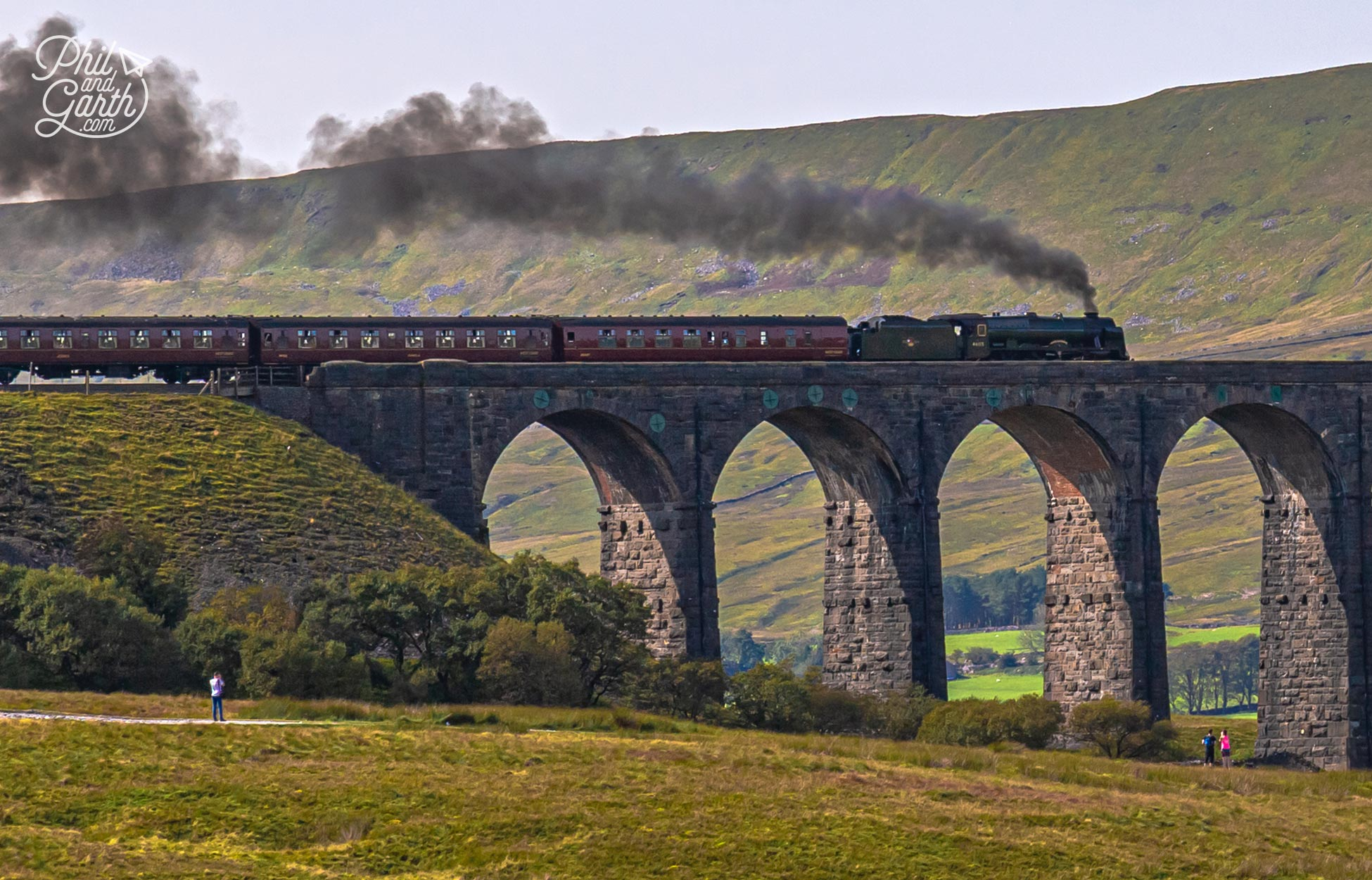 By total fluke we saw the heritage steam train cross the viaduct - talk about timing!