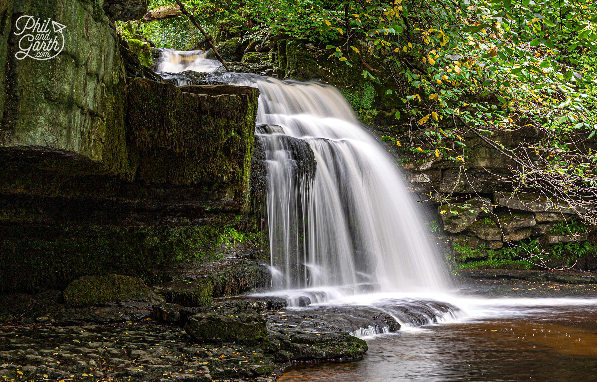 Cauldron Falls also known as West Burton Falls in the Yorkshire Dales