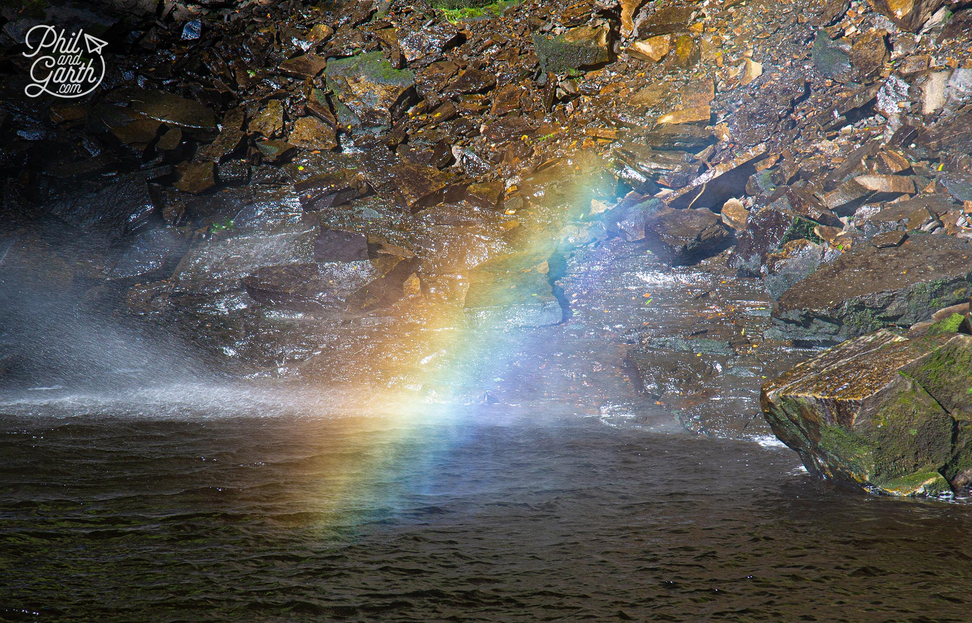 A gorgeous rainbow at Hardraw Force