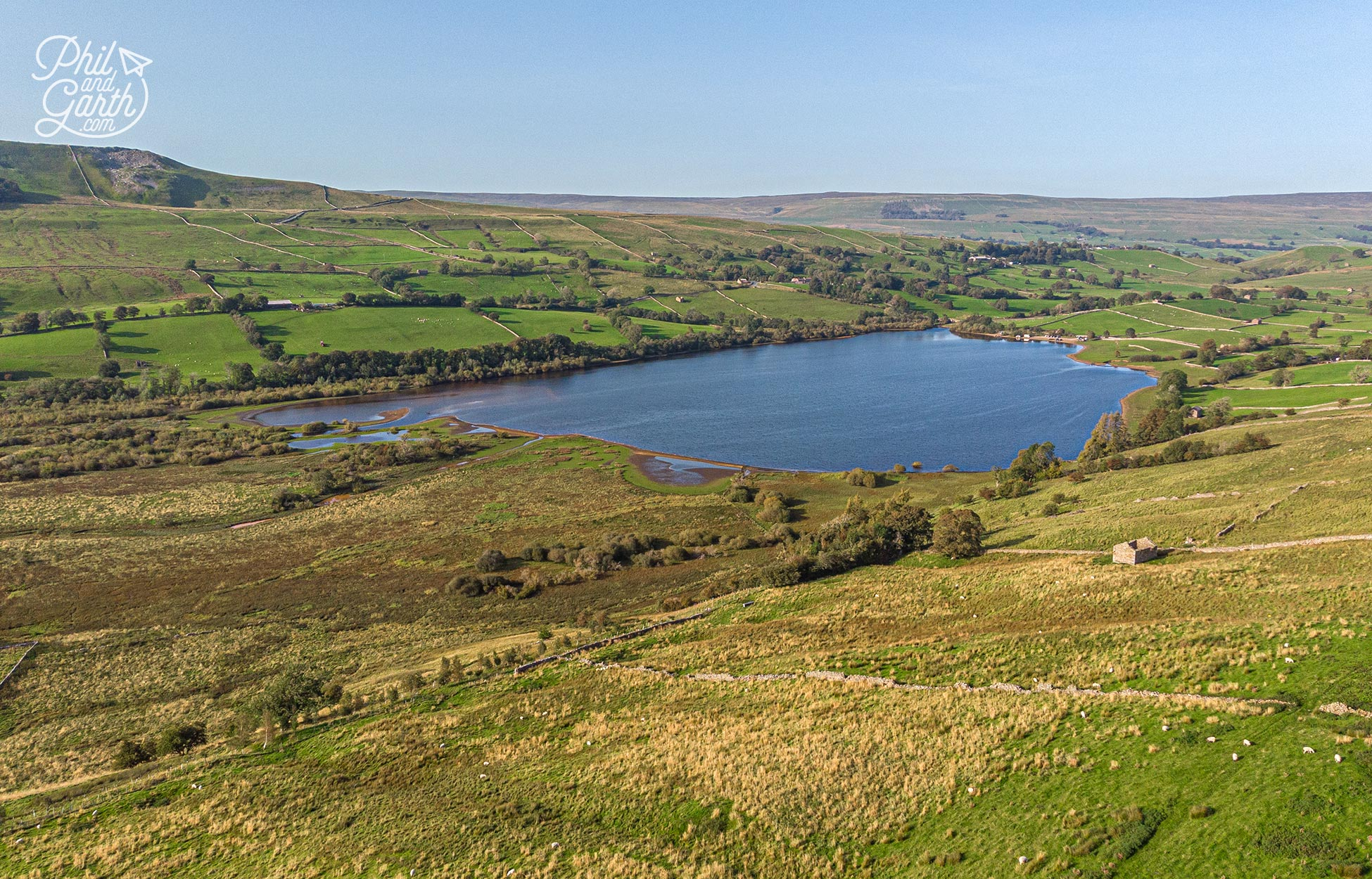 Lake Semerwater in the heart of Wensleydale, Yorkshire Dales National Park