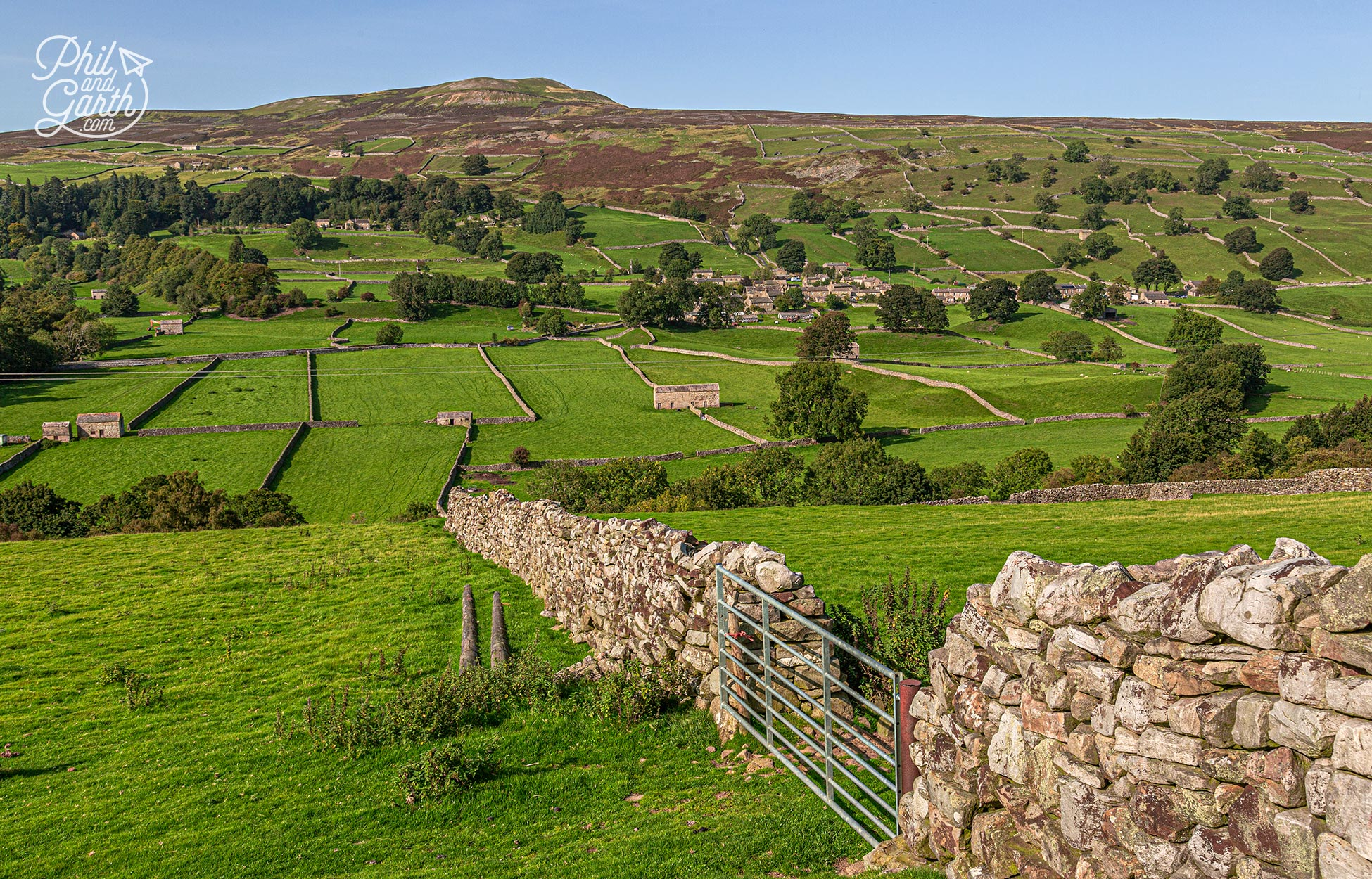 Lots of stone barns dot the drystone walled landscape in Swaledale