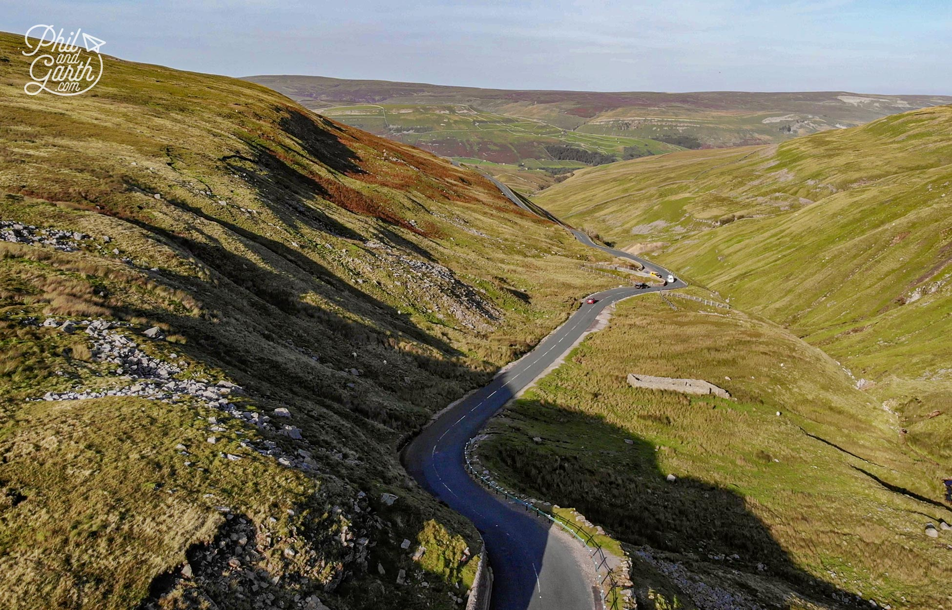 Our drone shot of the Buttertubs Pass