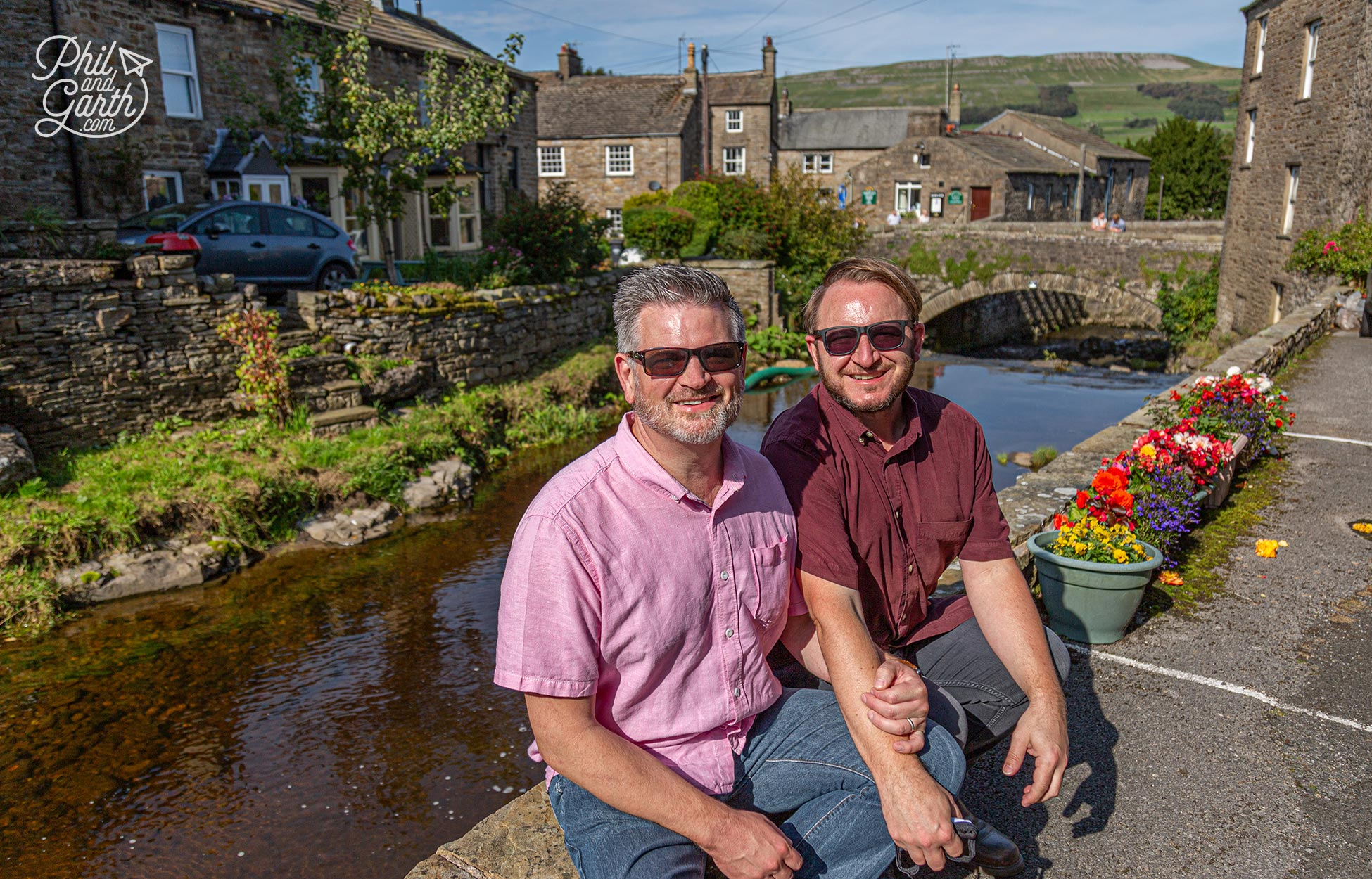 Phil and Garth in Hawes, Wensleydale