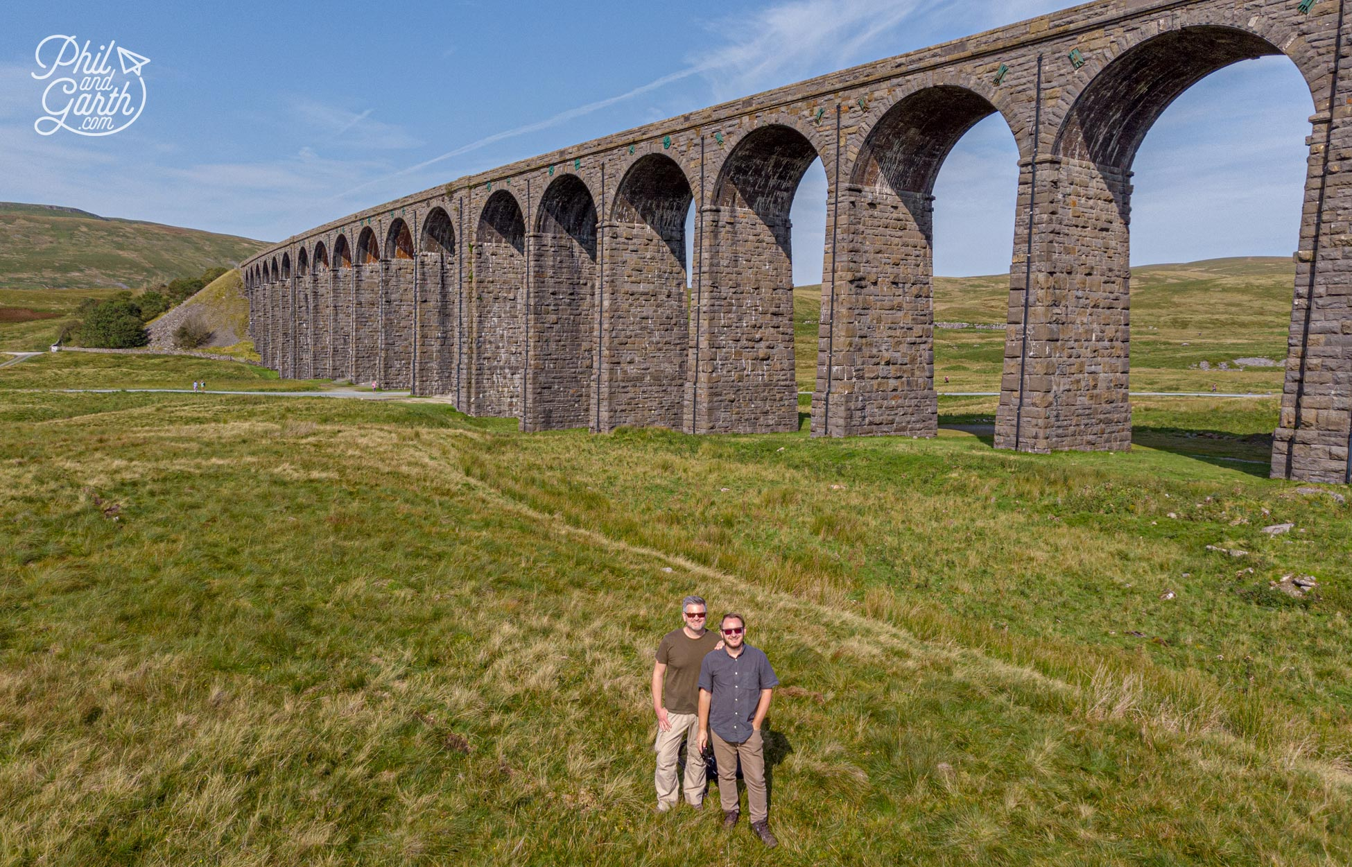 24 huge stone arches make up the Ribblehead Viaduct, completed in 1875
