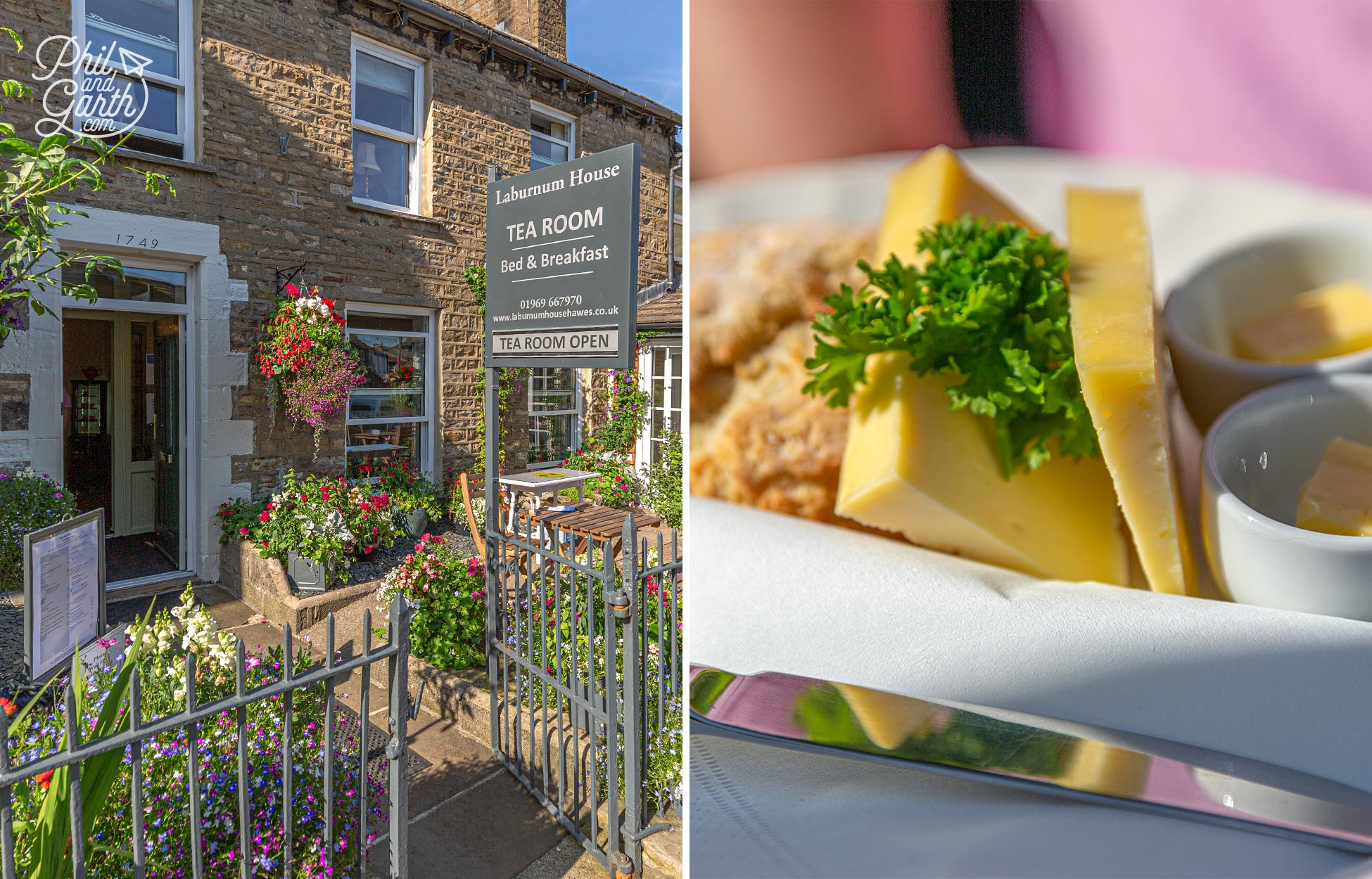 Cream teas are served with an option for Wensleydale cheese instead of jam at Laburnum House Tea Room